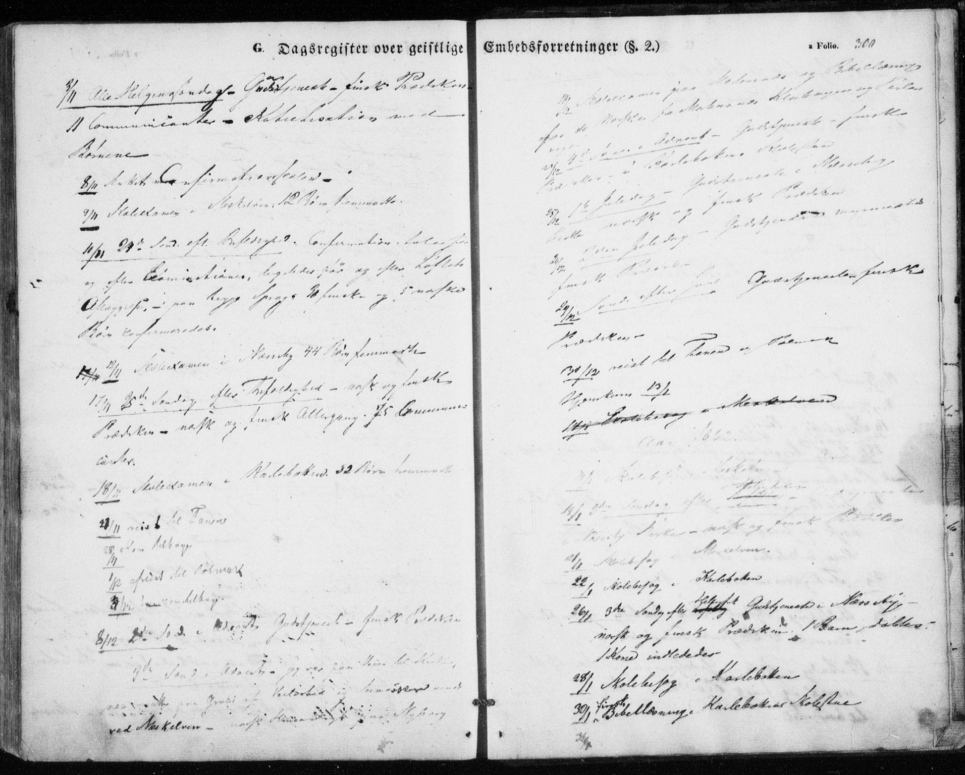 SATØ, Nesseby sokneprestkontor, H/Ha/L0002kirke: Ministerialbok nr. 2, 1856-1864, s. 300