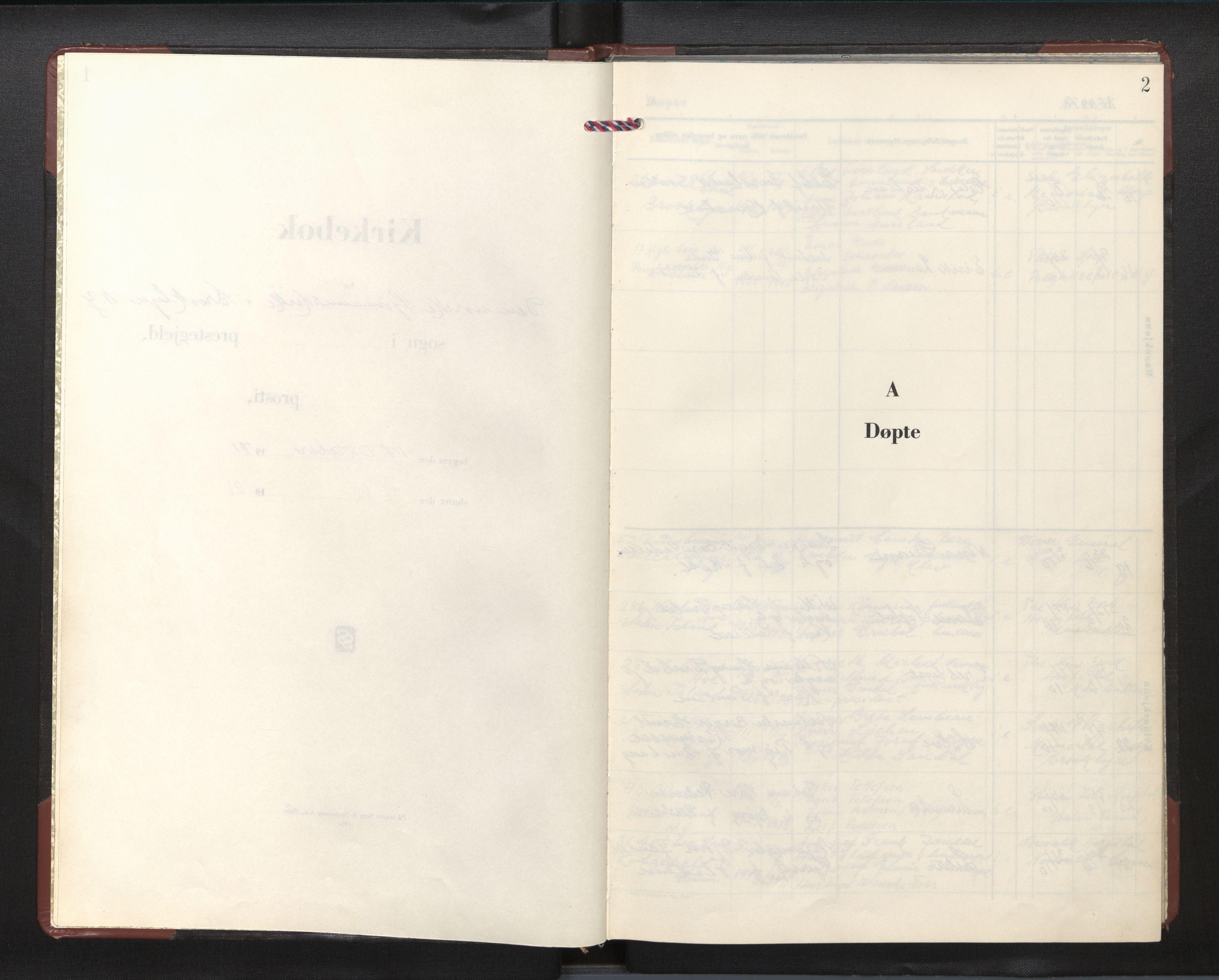 SAB, Privatarkiv 110 - Den norske sjømannsmisjon i utlandet/New York, H/Ha/L0015: Ministerialbok nr. A 15, 1971-1982, s. 1b-2a
