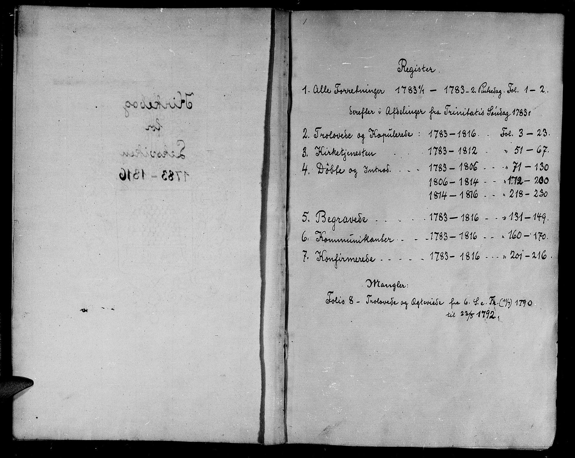 SAT, Ministerialprotokoller, klokkerbøker og fødselsregistre - Nord-Trøndelag, 701/L0004: Ministerialbok nr. 701A04, 1783-1816