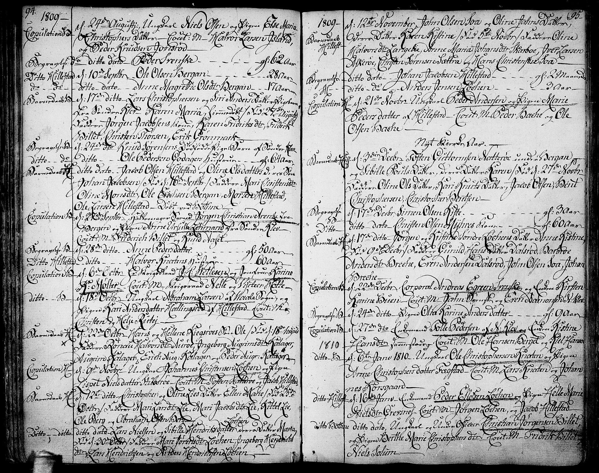 SAKO, Botne kirkebøker, F/Fa/L0003: Ministerialbok nr. I 3 /1, 1792-1844, s. 94-95