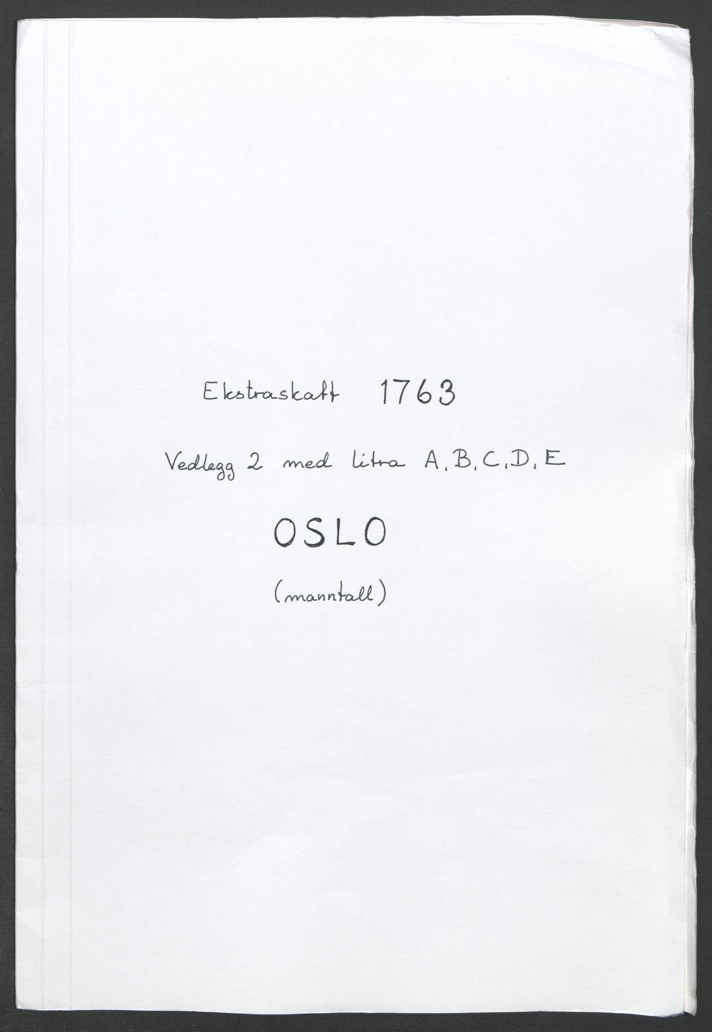 RA, Rentekammeret inntil 1814, Reviderte regnskaper, Fogderegnskap, R10/L0559: Ekstraskatten Aker og Follo, 1763, s. 139