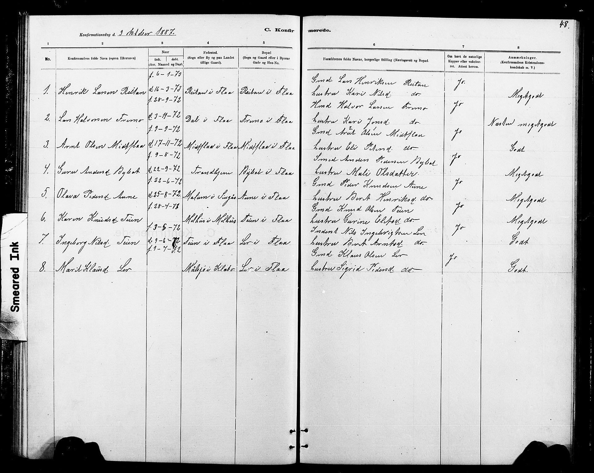 SAT, Ministerialprotokoller, klokkerbøker og fødselsregistre - Sør-Trøndelag, 693/L1123: Klokkerbok nr. 693C04, 1887-1910, s. 48