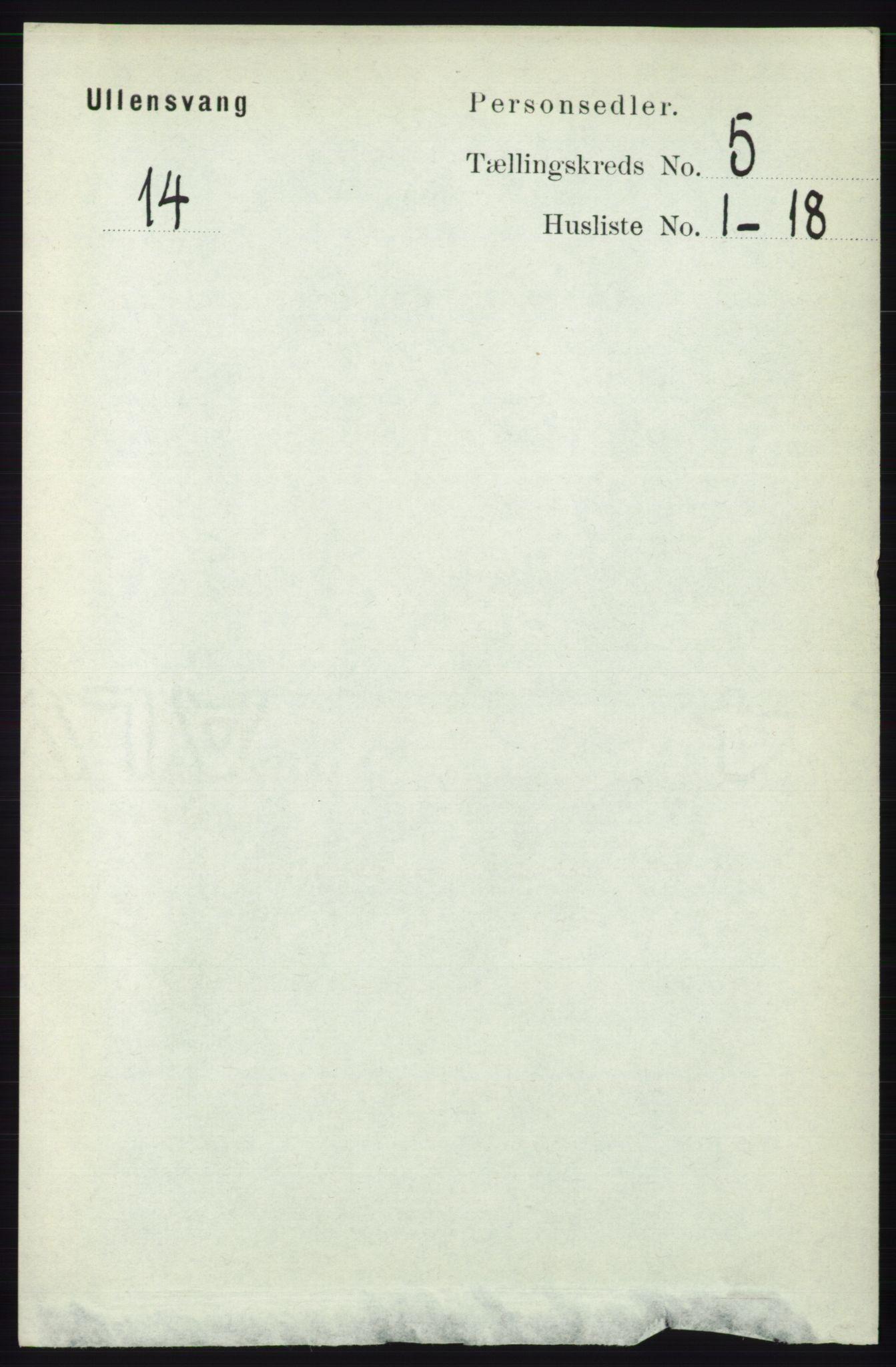 RA, Folketelling 1891 for 1230 Ullensvang herred, 1891, s. 1613