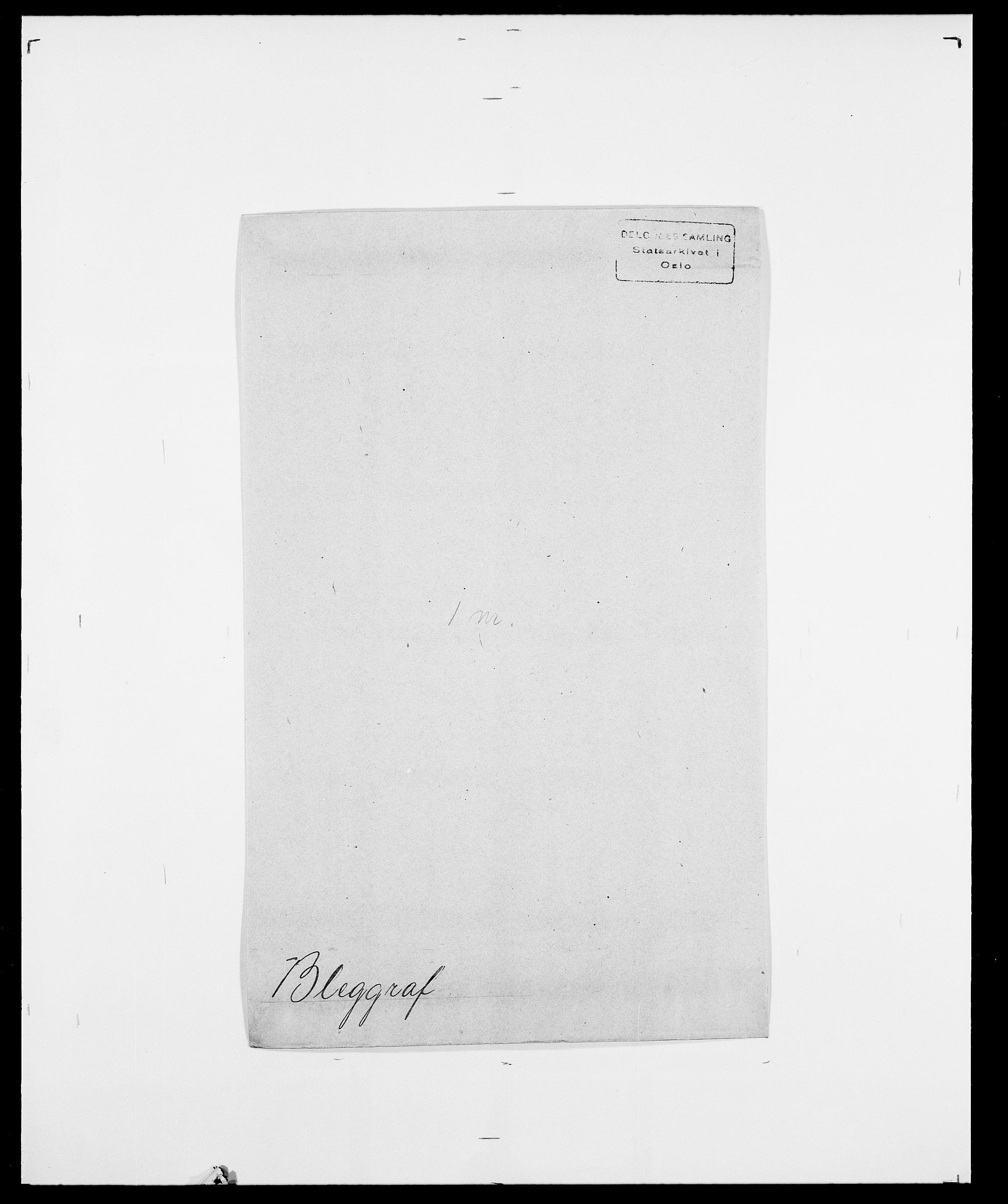 SAO, Delgobe, Charles Antoine - samling, D/Da/L0004: Bergendahl - Blære, s. 557