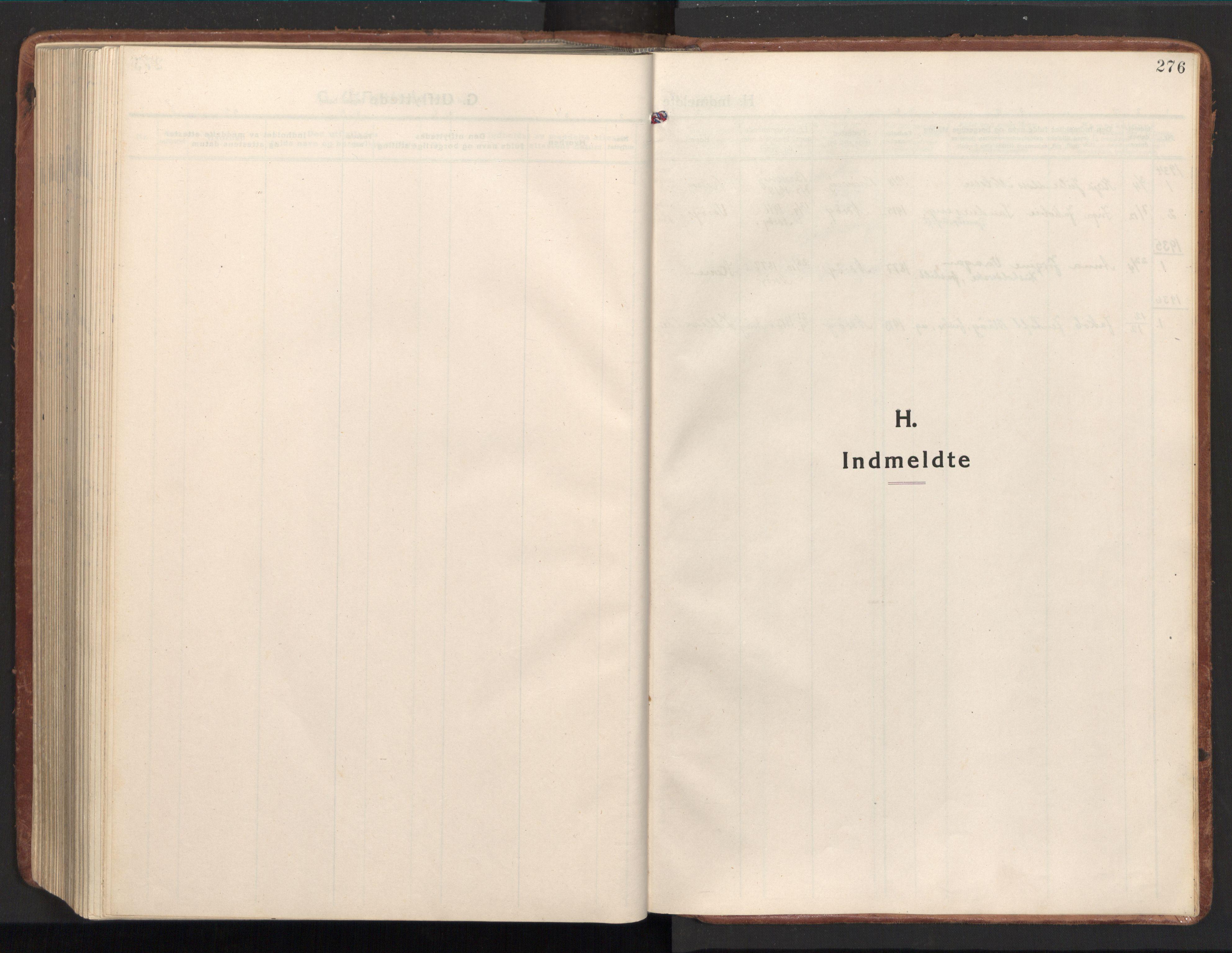 SAT, Ministerialprotokoller, klokkerbøker og fødselsregistre - Nord-Trøndelag, 784/L0678: Ministerialbok nr. 784A13, 1921-1938, s. 276