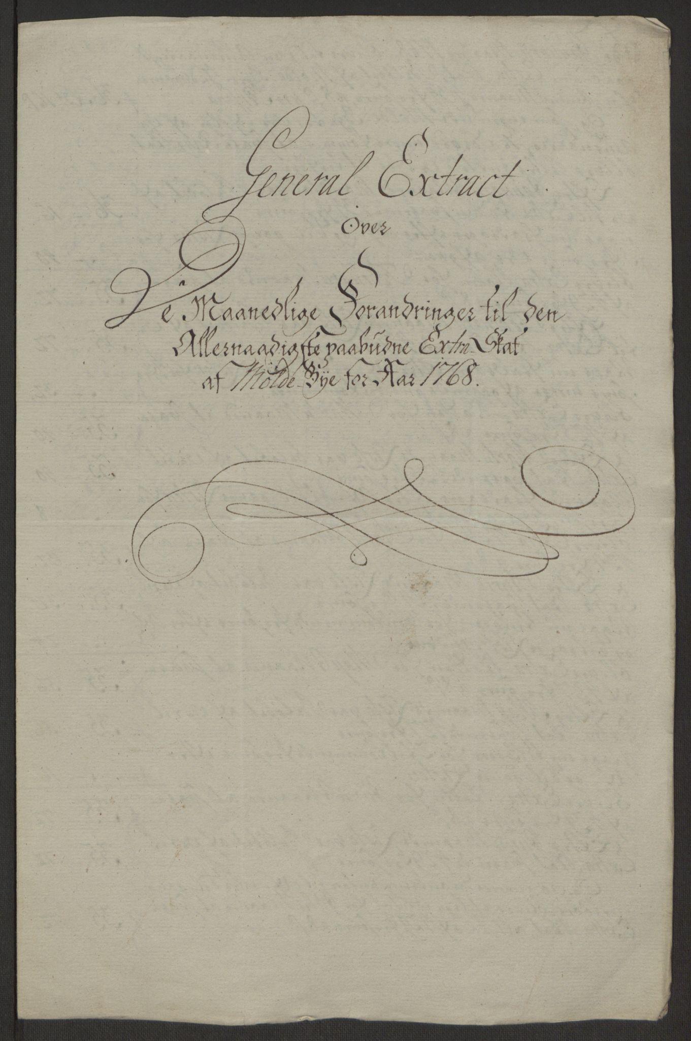 RA, Rentekammeret inntil 1814, Reviderte regnskaper, Byregnskaper, R/Rq/L0487: [Q1] Kontribusjonsregnskap, 1762-1772, s. 163