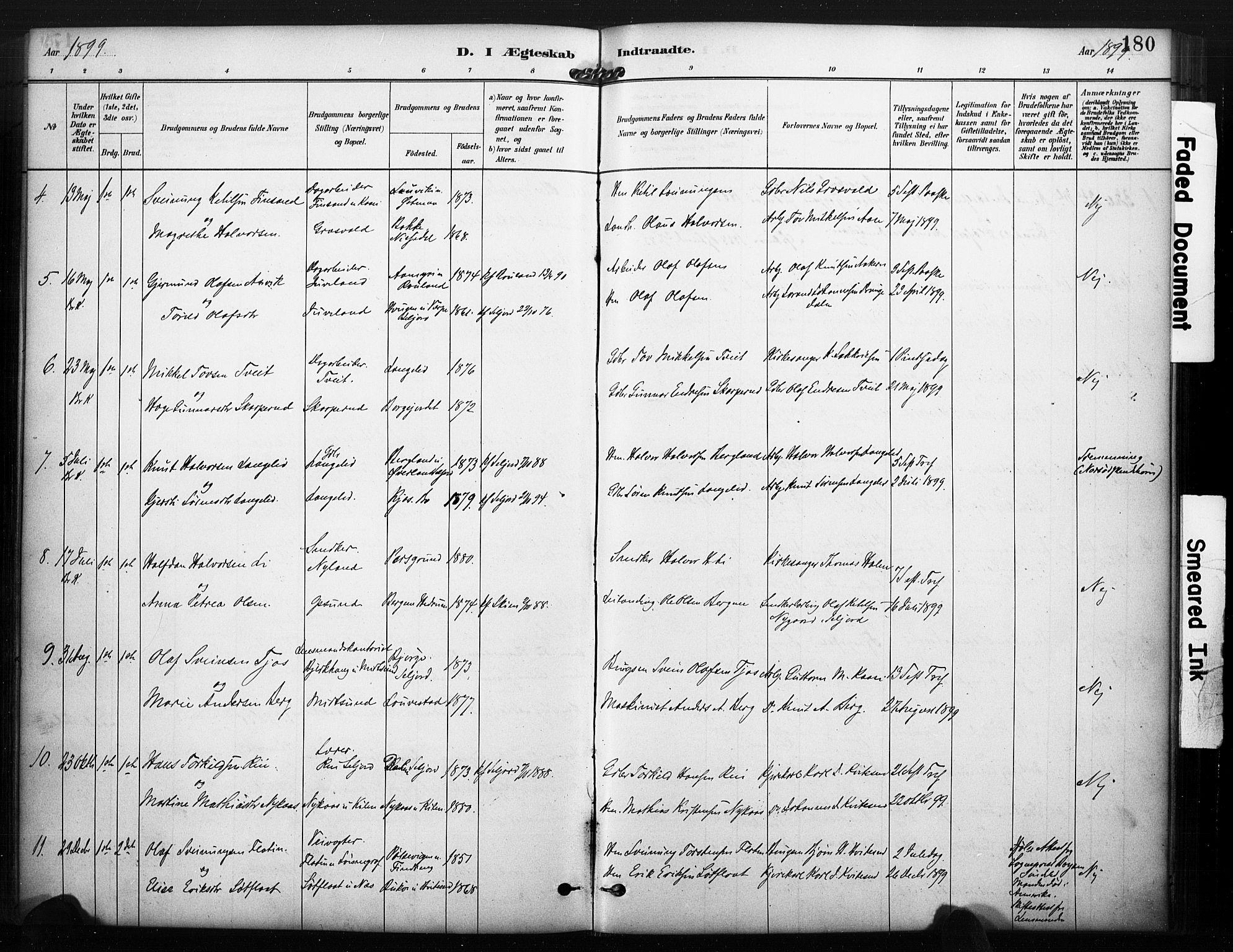 SAKO, Kviteseid kirkebøker, F/Fa/L0008: Ministerialbok nr. I 8, 1882-1903, s. 180