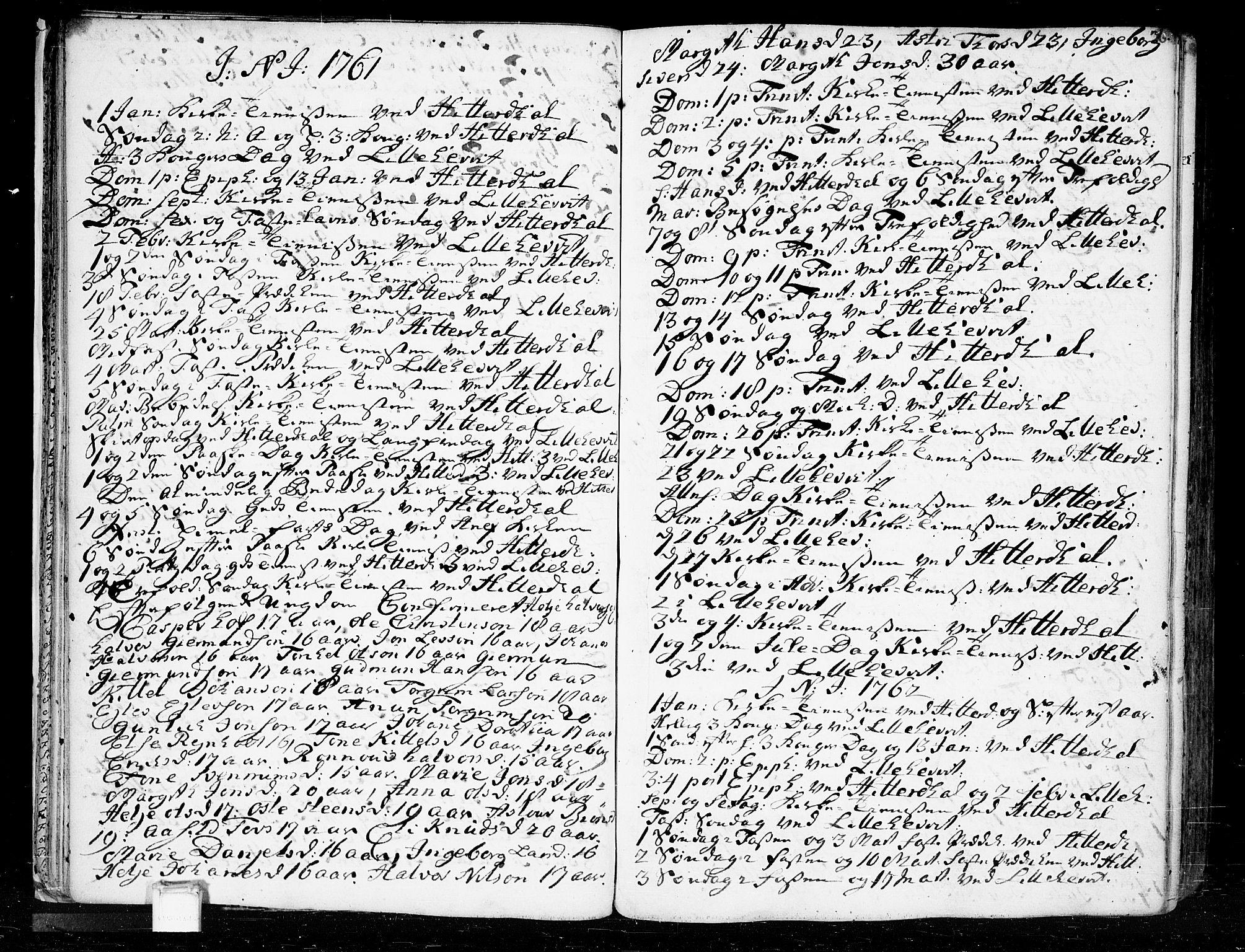 SAKO, Heddal kirkebøker, F/Fa/L0003: Ministerialbok nr. I 3, 1723-1783, s. 36