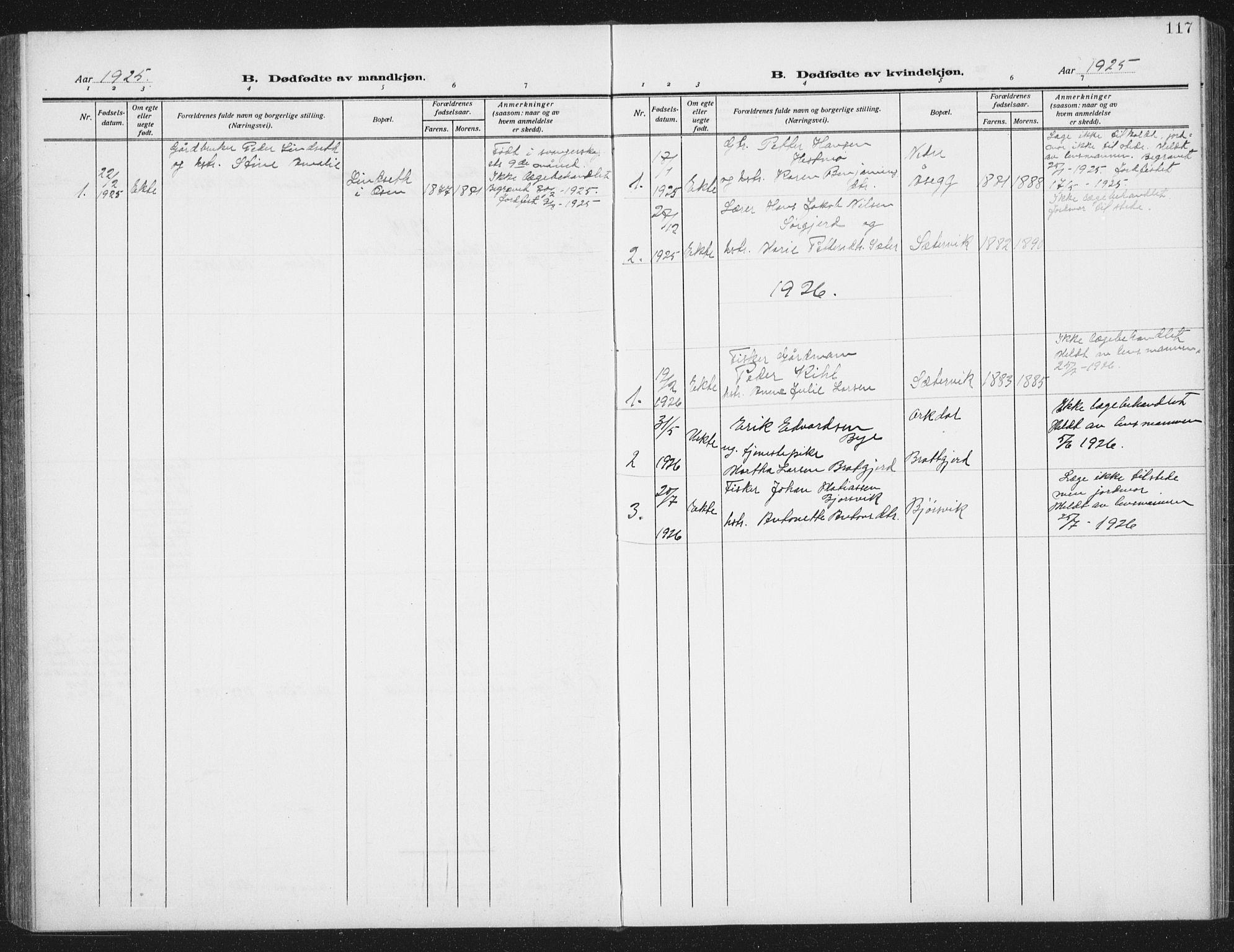 SAT, Ministerialprotokoller, klokkerbøker og fødselsregistre - Sør-Trøndelag, 658/L0727: Klokkerbok nr. 658C03, 1909-1935, s. 117