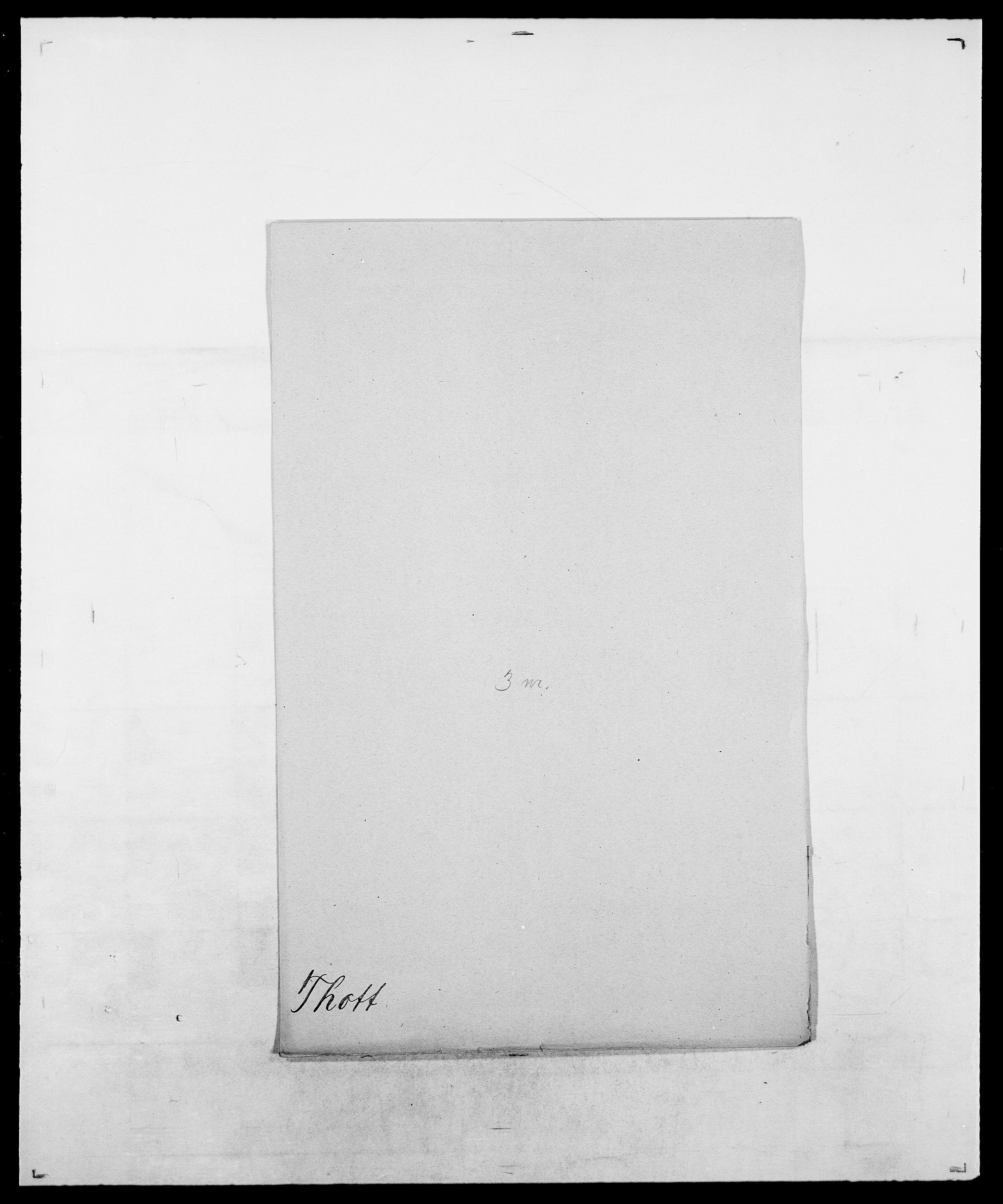 SAO, Delgobe, Charles Antoine - samling, D/Da/L0038: Svanenskjold - Thornsohn, s. 934