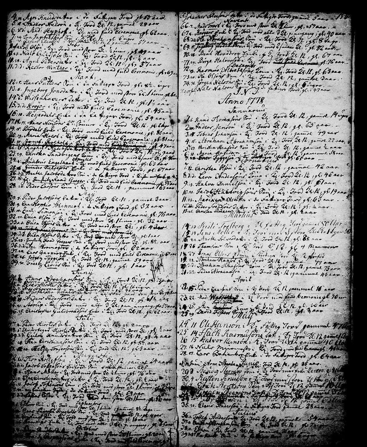 SAKO, Skien kirkebøker, G/Ga/L0001: Klokkerbok nr. 1, 1756-1791, s. 150