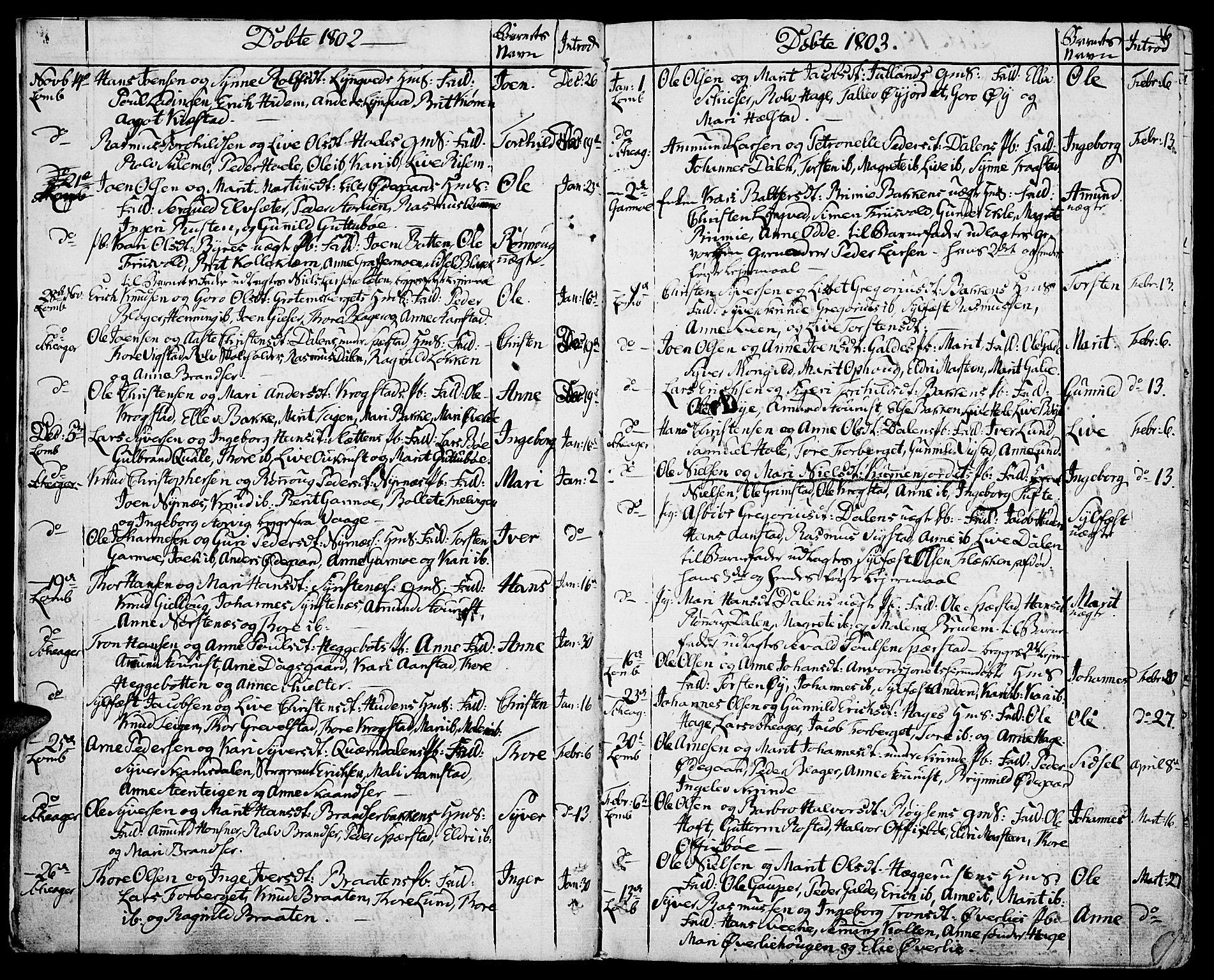 SAH, Lom prestekontor, K/L0003: Ministerialbok nr. 3, 1801-1825, s. 6