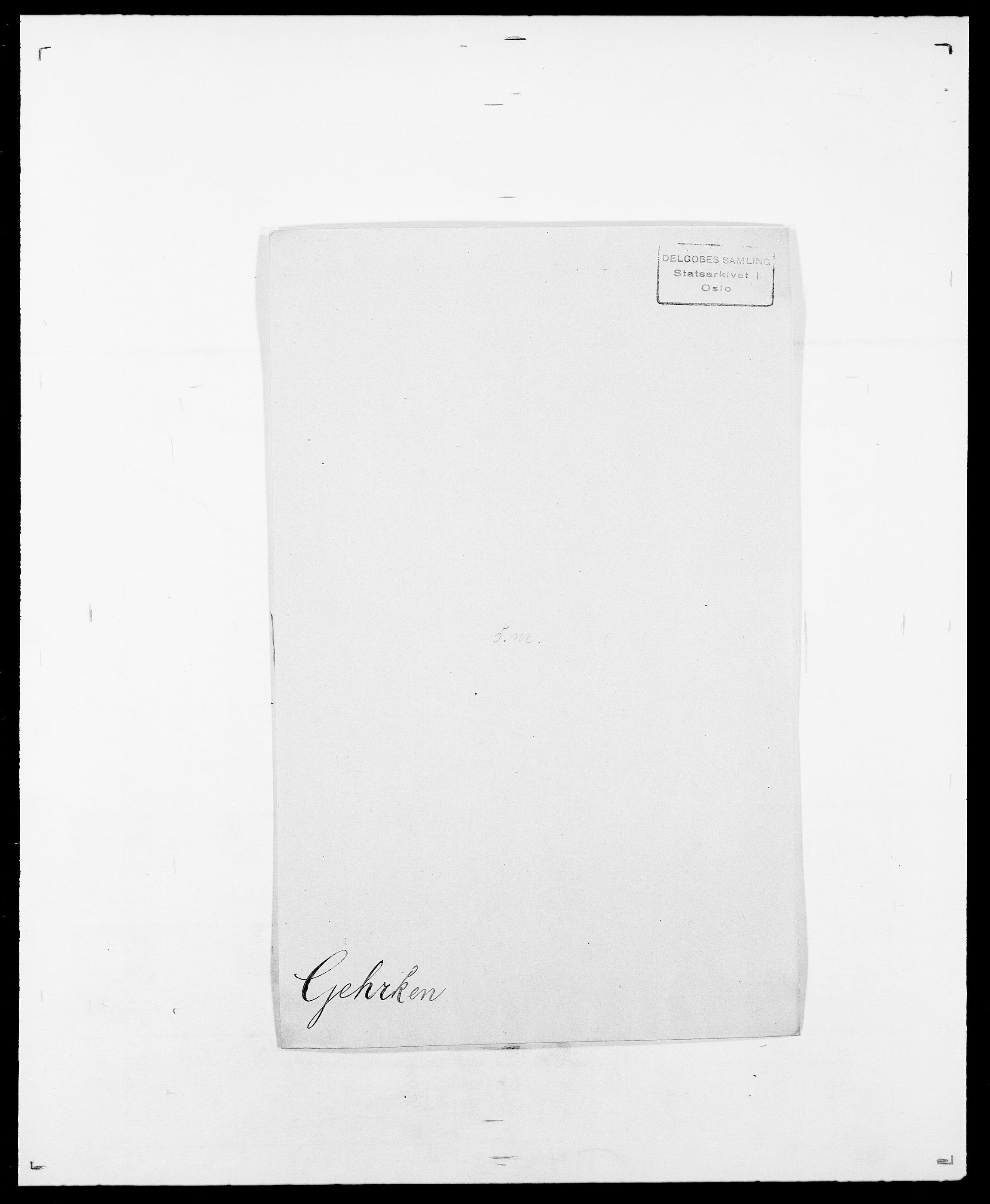 SAO, Delgobe, Charles Antoine - samling, D/Da/L0013: Forbos - Geving, s. 592