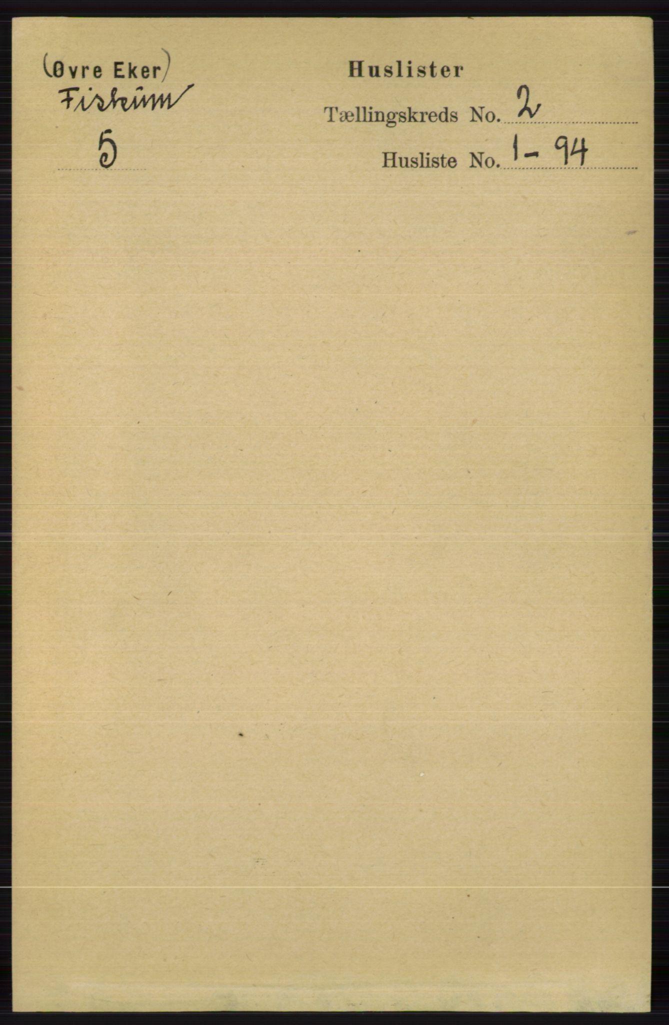 RA, Folketelling 1891 for 0624 Øvre Eiker herred, 1891, s. 8378