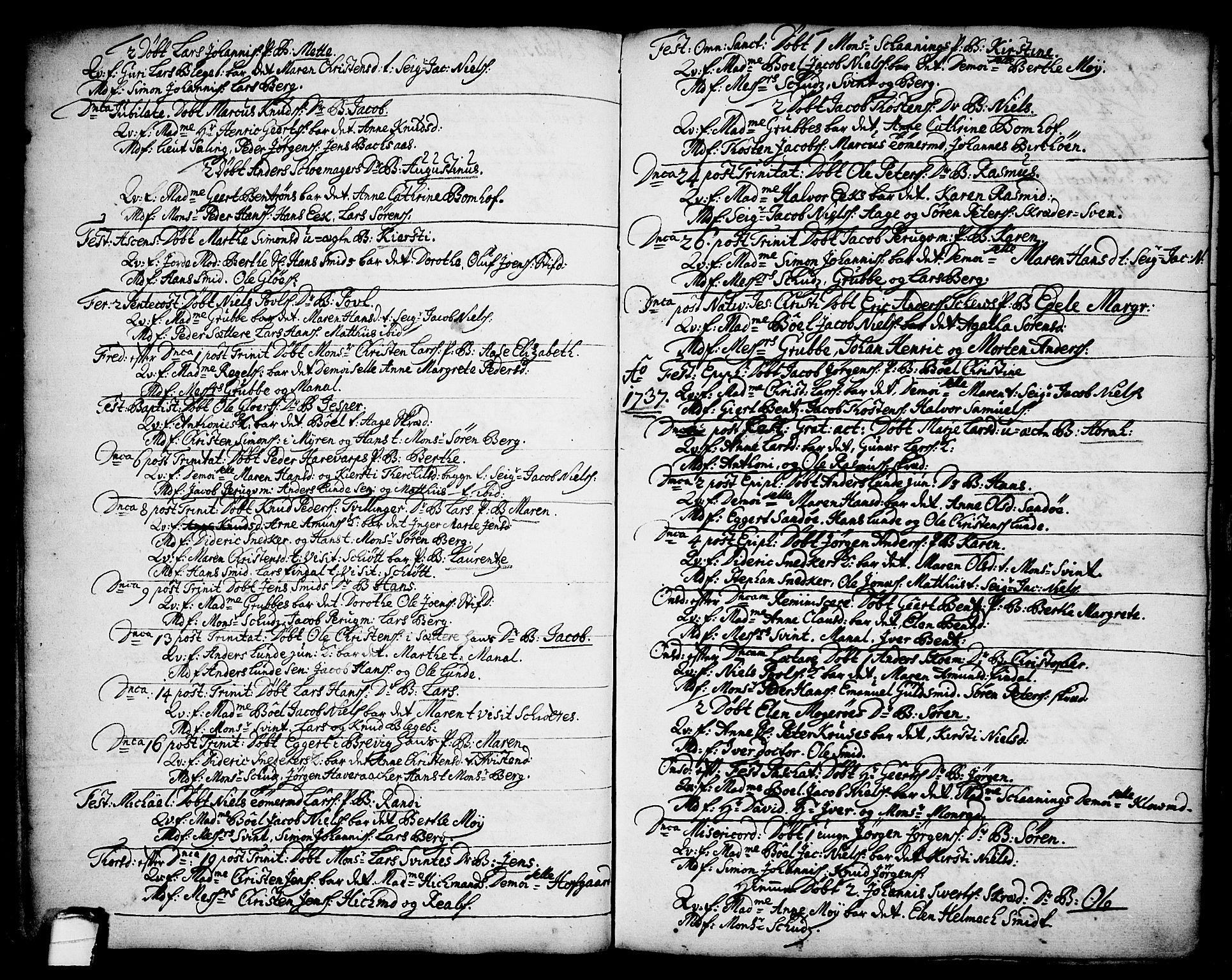 SAKO, Brevik kirkebøker, F/Fa/L0002: Ministerialbok nr. 2, 1720-1764, s. 34g