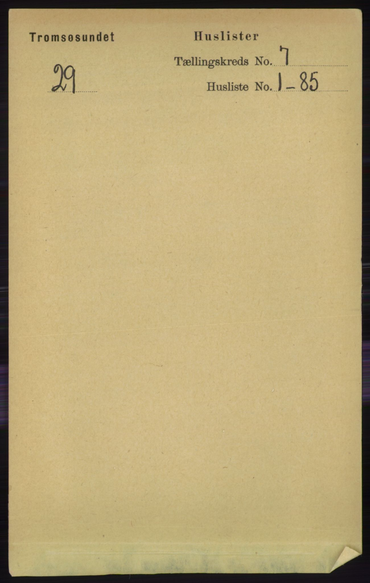 RA, Folketelling 1891 for 1934 Tromsøysund herred, 1891, s. 3633