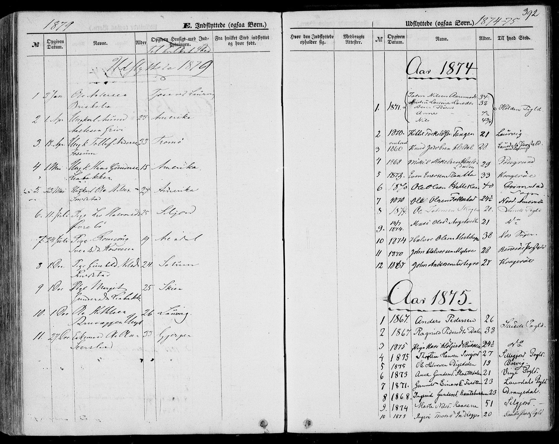 SAKO, Bø kirkebøker, F/Fa/L0009: Ministerialbok nr. 9, 1862-1879, s. 392