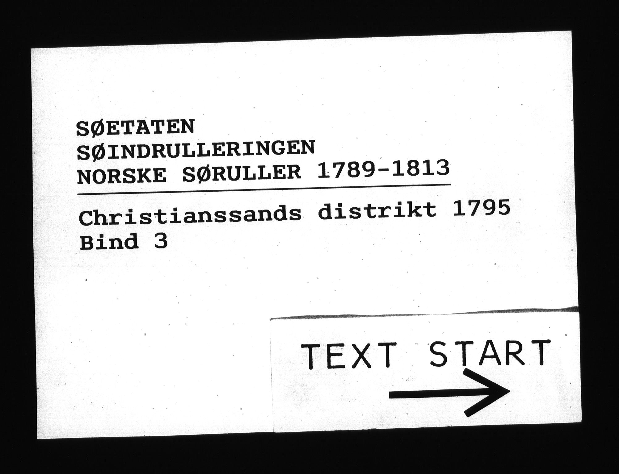RA, Sjøetaten, F/L0024: Kristiansand distrikt, bind 3, 1795
