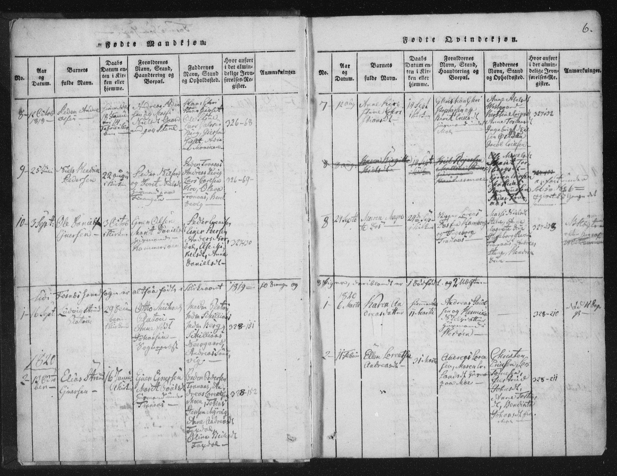 SAT, Ministerialprotokoller, klokkerbøker og fødselsregistre - Nord-Trøndelag, 773/L0609: Ministerialbok nr. 773A03 /1, 1815-1830, s. 6