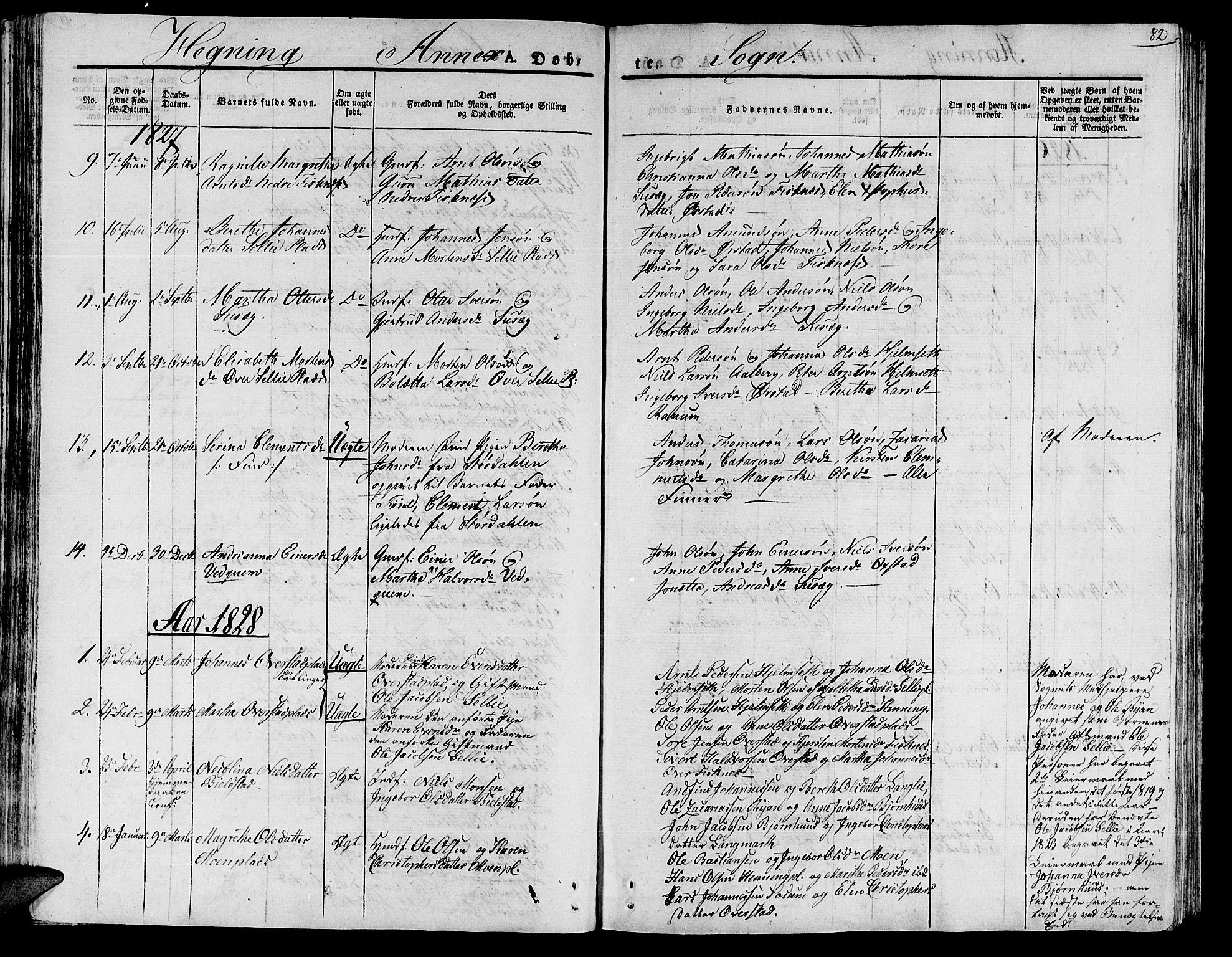 SAT, Ministerialprotokoller, klokkerbøker og fødselsregistre - Nord-Trøndelag, 735/L0336: Ministerialbok nr. 735A05 /3, 1825-1835, s. 82