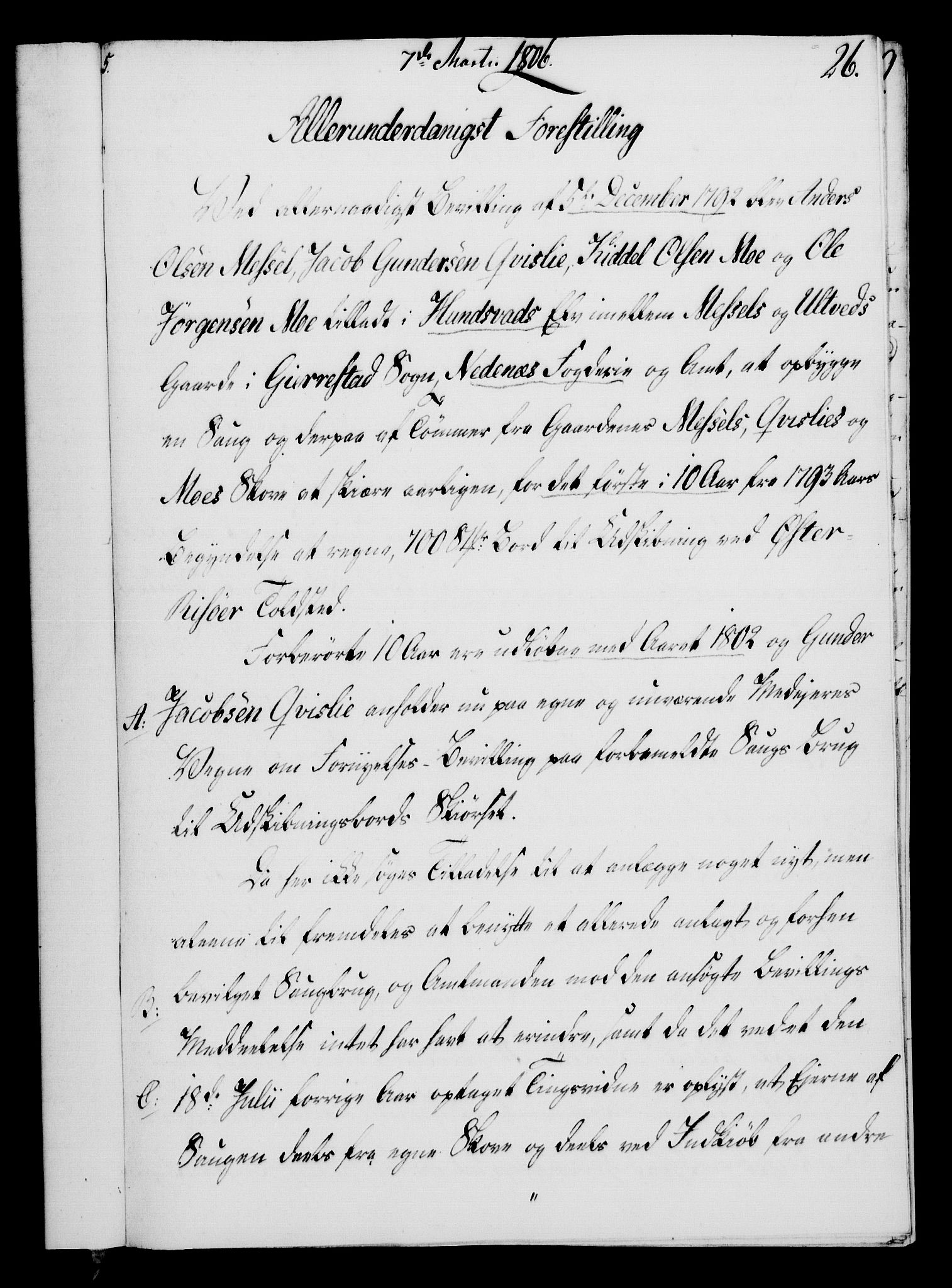 RA, Rentekammeret, Kammerkanselliet, G/Gf/Gfa/L0088: Norsk relasjons- og resolusjonsprotokoll (merket RK 52.88), 1806, s. 167