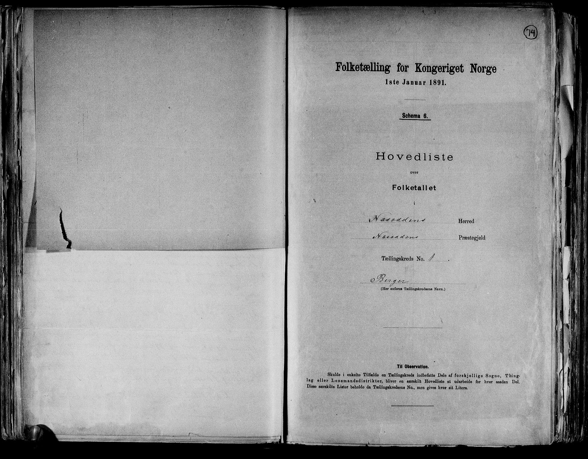 RA, Folketelling 1891 for 0216 Nesodden herred, 1891, s. 5