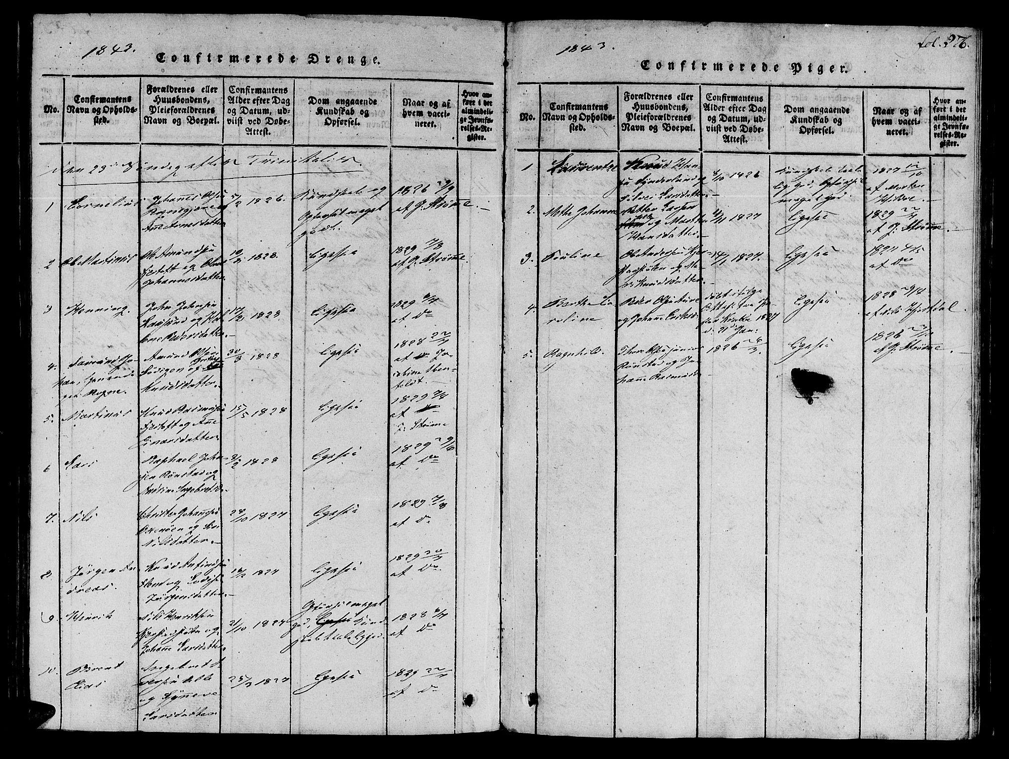 SAT, Ministerialprotokoller, klokkerbøker og fødselsregistre - Møre og Romsdal, 536/L0495: Ministerialbok nr. 536A04, 1818-1847, s. 276