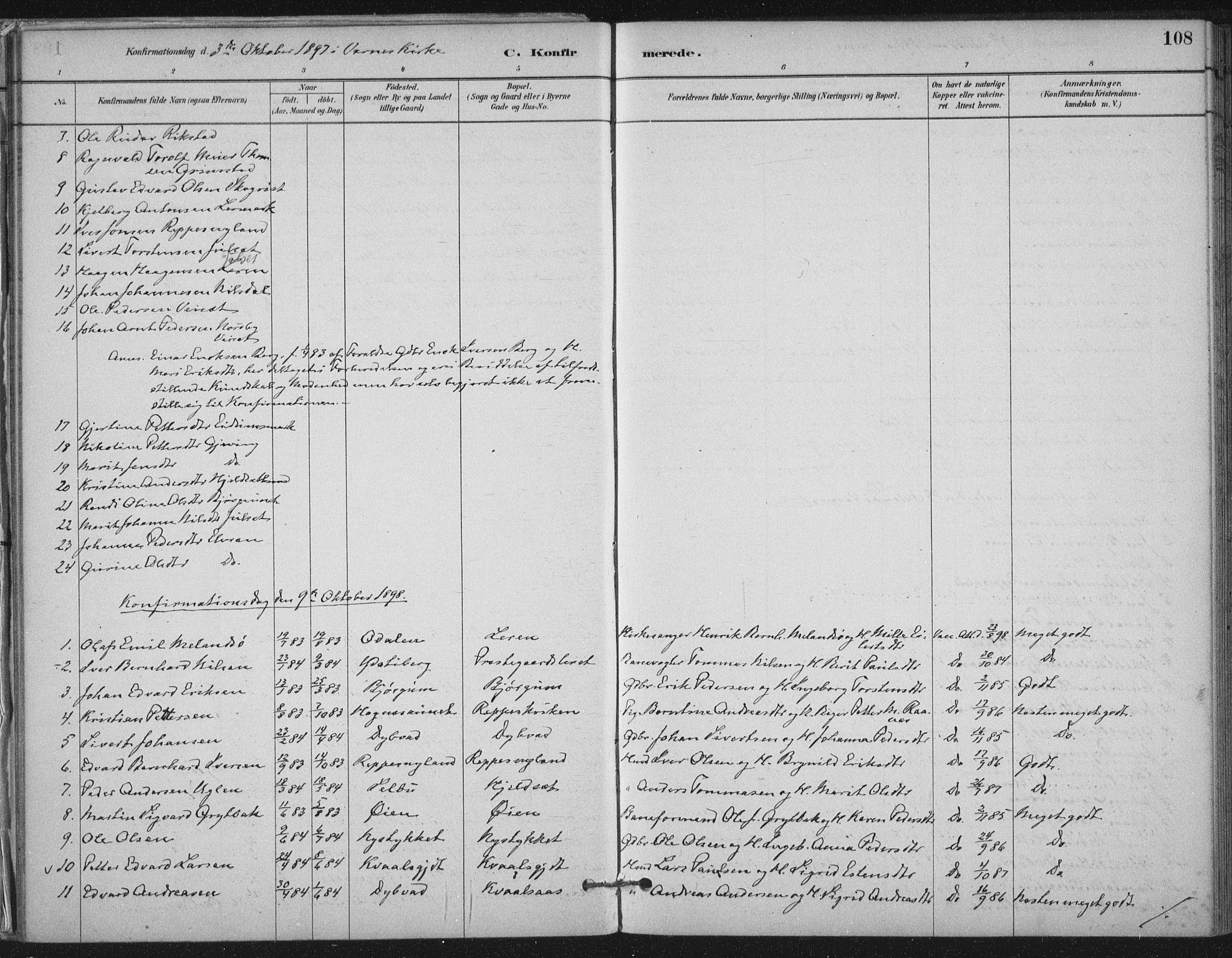 SAT, Ministerialprotokoller, klokkerbøker og fødselsregistre - Nord-Trøndelag, 710/L0095: Ministerialbok nr. 710A01, 1880-1914, s. 108