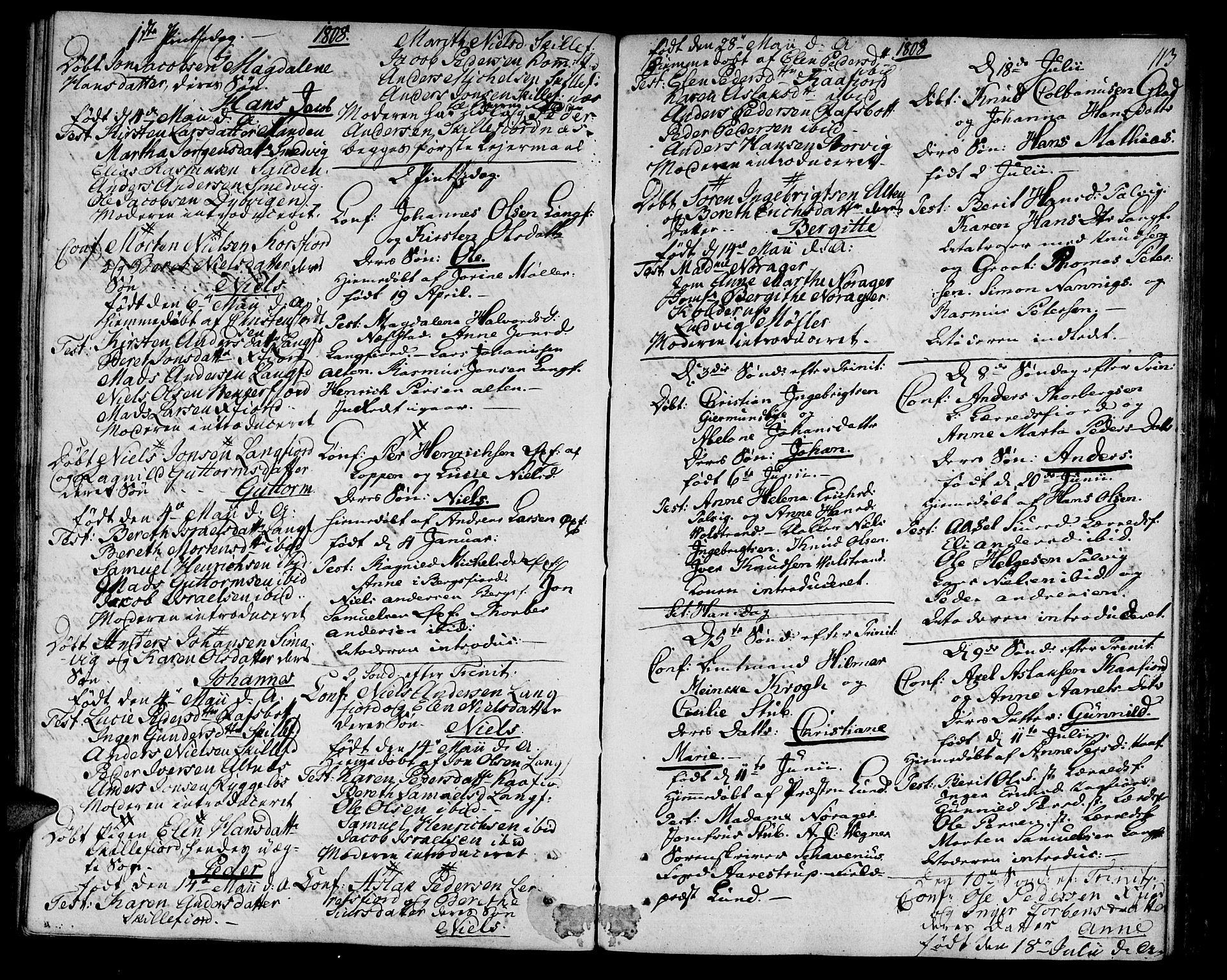SATØ, Talvik sokneprestkontor, H/Ha/L0006kirke: Ministerialbok nr. 6, 1799-1812, s. 113