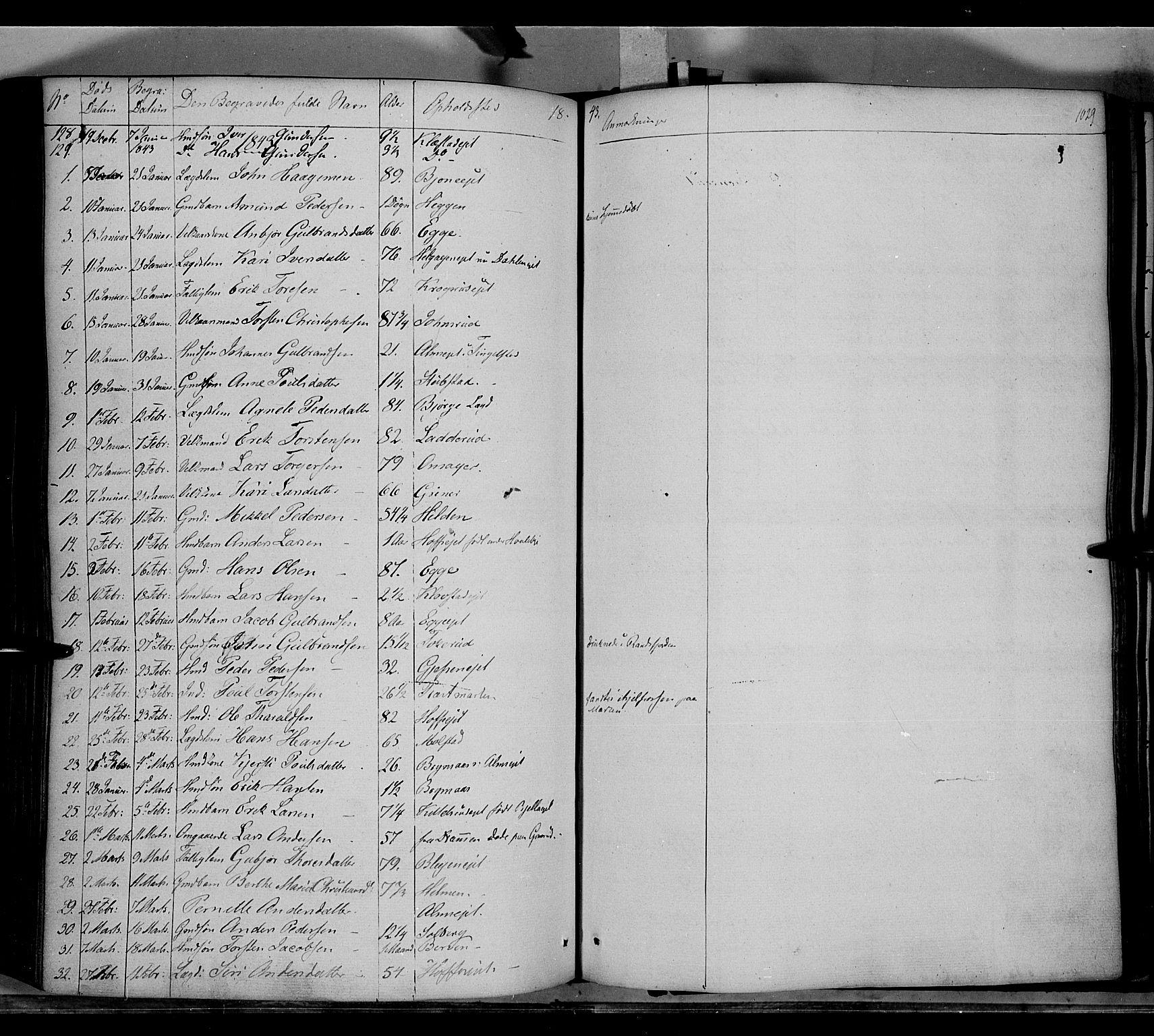 SAH, Gran prestekontor, Ministerialbok nr. 11, 1842-1856, s. 1028-1029