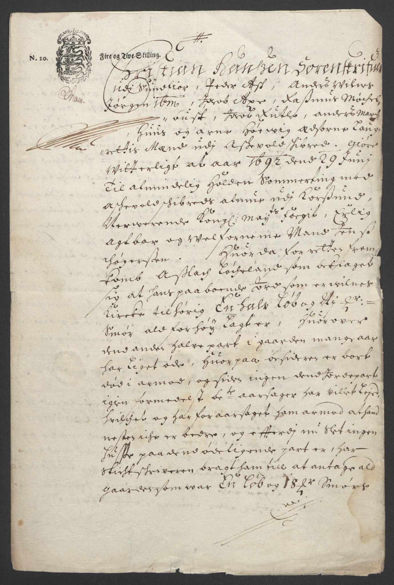 RA, Rentekammeret inntil 1814, Reviderte regnskaper, Fogderegnskap, R53/L3420: Fogderegnskap Sunn- og Nordfjord, 1691-1692, s. 244
