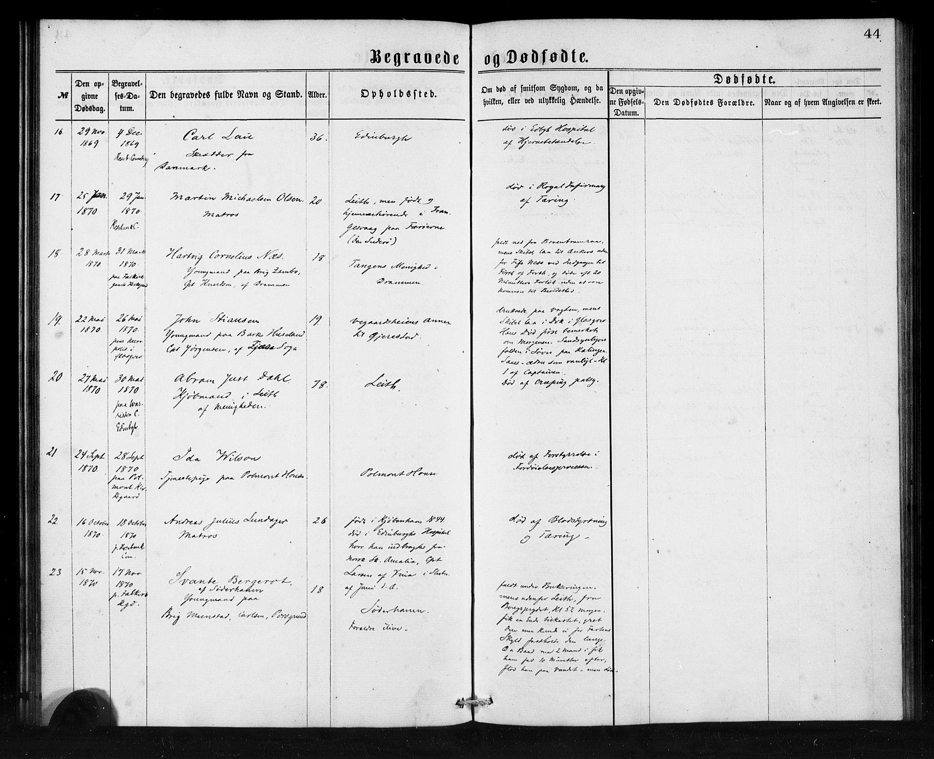 SAB, Den Norske Sjømannsmisjon i utlandet*, Ministerialbok nr. A 1, 1865-1880, s. 44