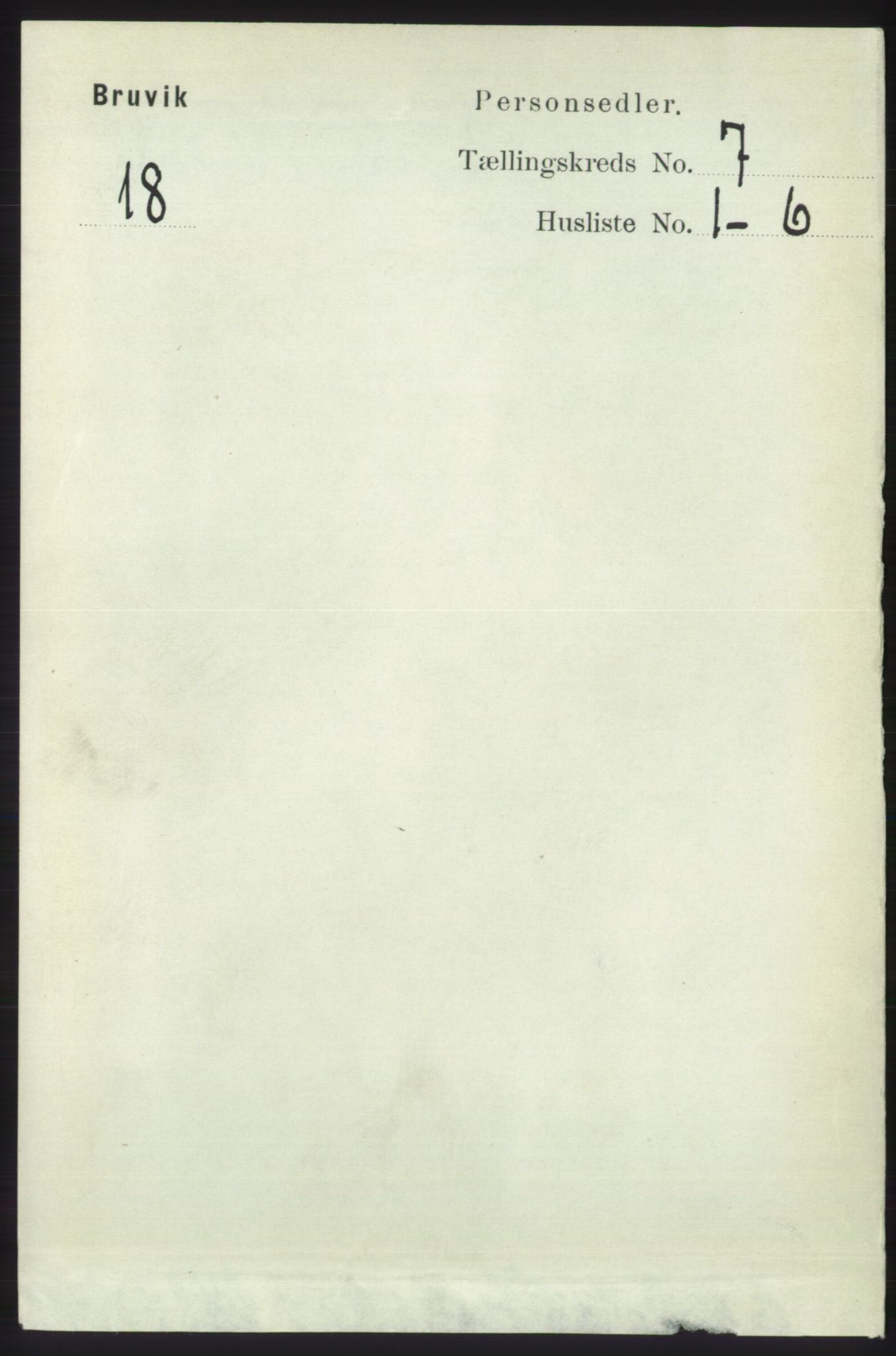 RA, Folketelling 1891 for 1251 Bruvik herred, 1891, s. 2038