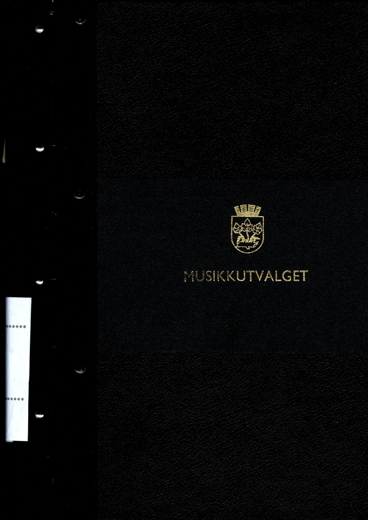 BYST, Stavanger kommune. Musikkutvalget, A/L0001: Møtebok, 1981-1983