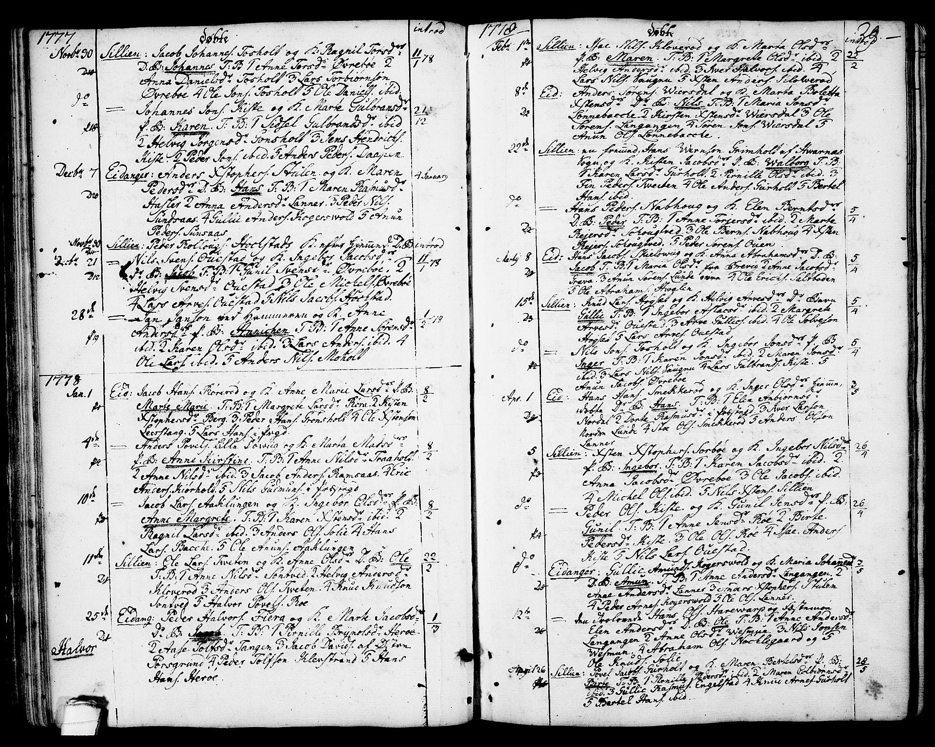 SAKO, Eidanger kirkebøker, F/Fa/L0006: Ministerialbok nr. 6, 1764-1814, s. 29