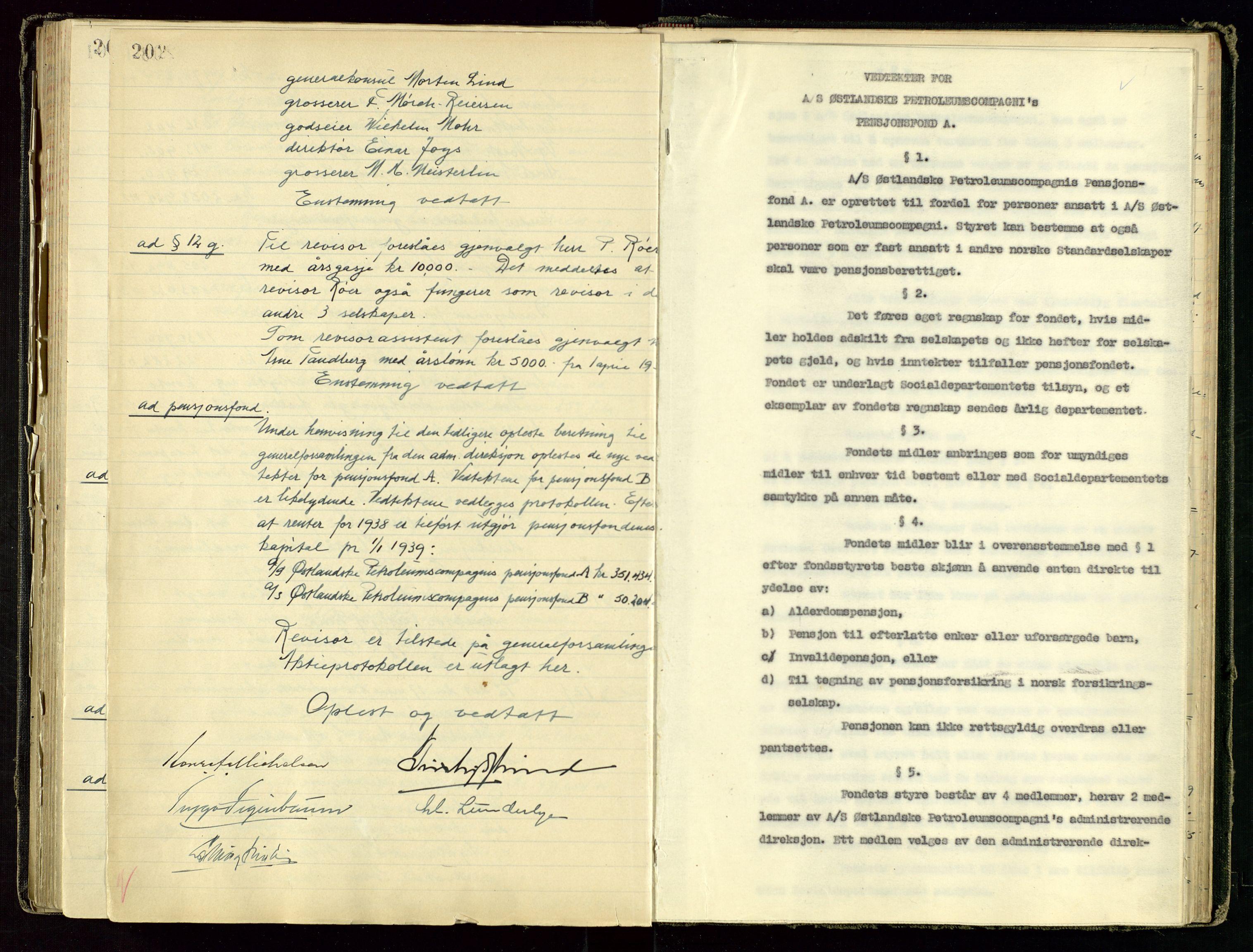 SAST, PA 1534 - Østlandske Petroleumscompagni A/S, A/Aa/L0001: Generalforsamlinger og direksjonsprotokoller., 1892-1960, s. upaginert