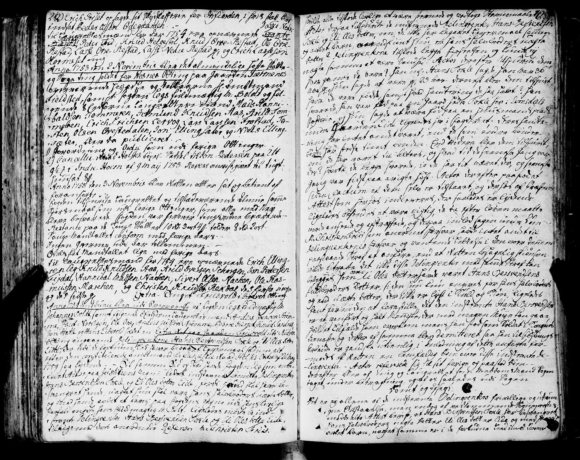 SAT, Romsdal sorenskriveri, 1/1A/L0013: Tingbok, 1749-1757, s. 282-283