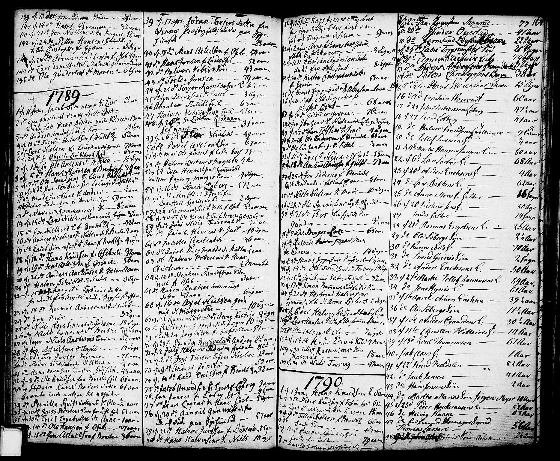SAKO, Gjerpen kirkebøker, F/Fa/L0002: Ministerialbok nr. 2, 1747-1795, s. 164