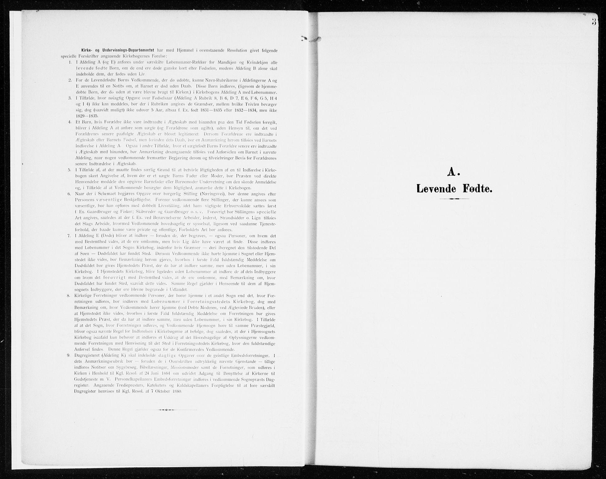 SAH, Løten prestekontor, K/Ka/L0011: Ministerialbok nr. 11, 1908-1917, s. 3