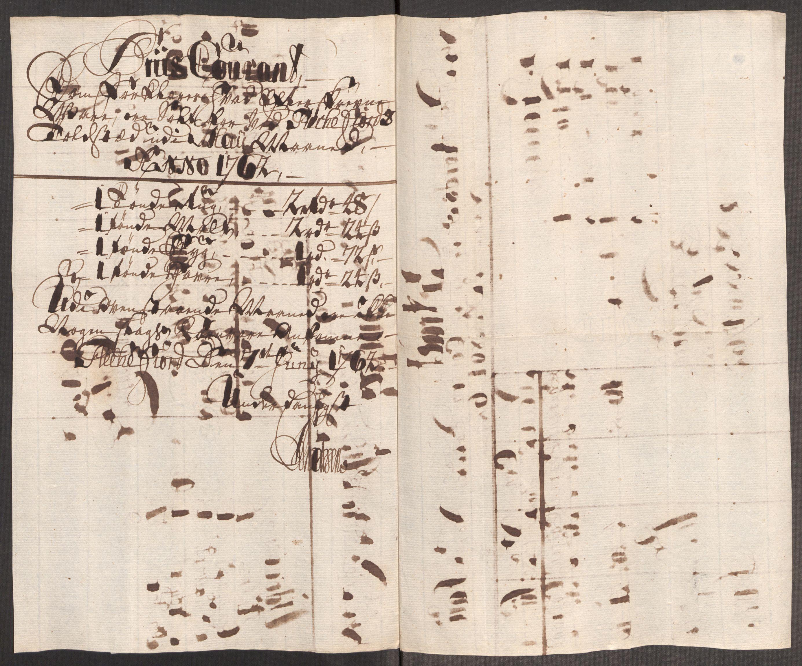 RA, Rentekammeret inntil 1814, Realistisk ordnet avdeling, Oe/L0007: [Ø1]: Priskuranter, 1761-1763, s. 519