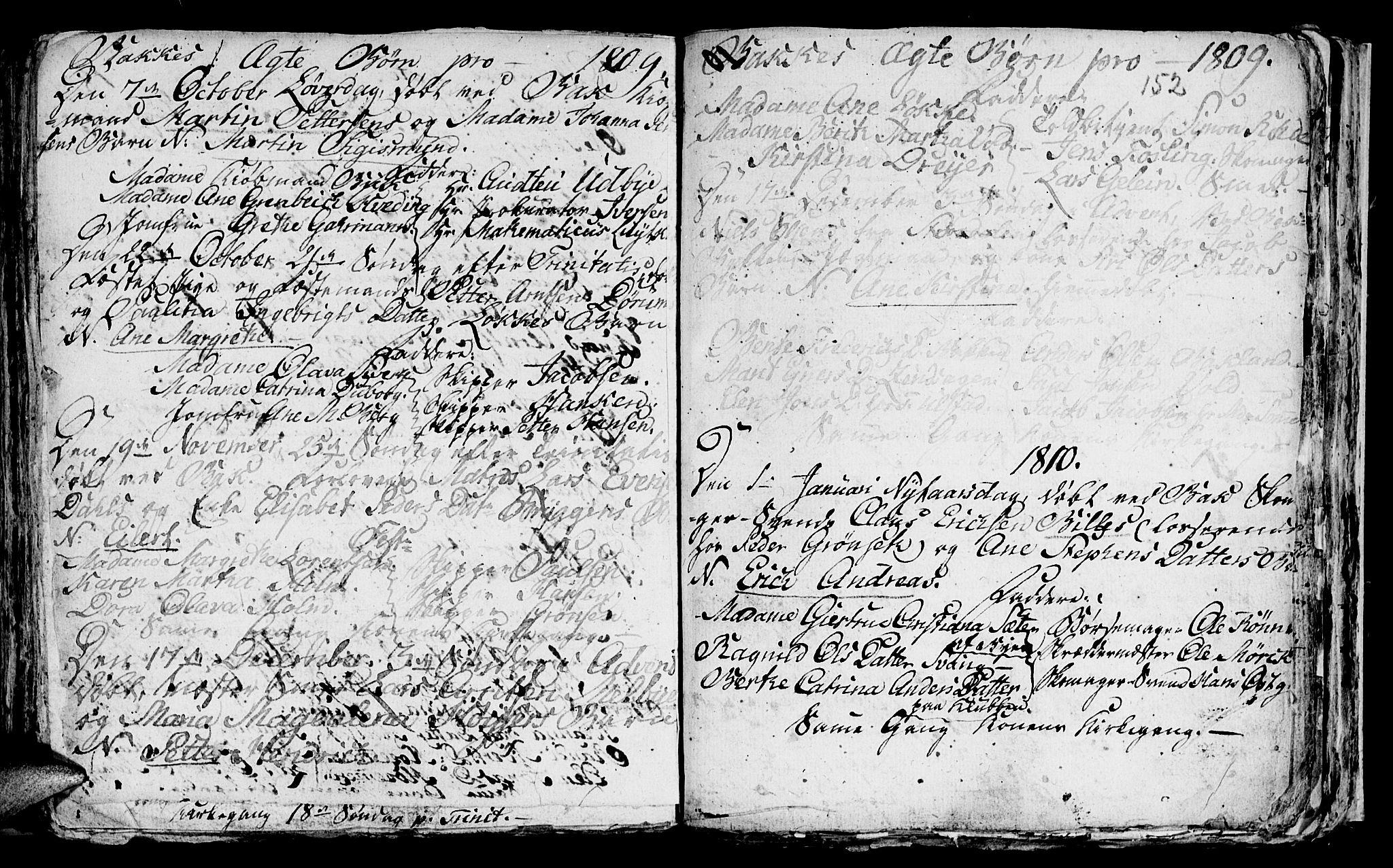 SAT, Ministerialprotokoller, klokkerbøker og fødselsregistre - Sør-Trøndelag, 604/L0218: Klokkerbok nr. 604C01, 1754-1819, s. 152