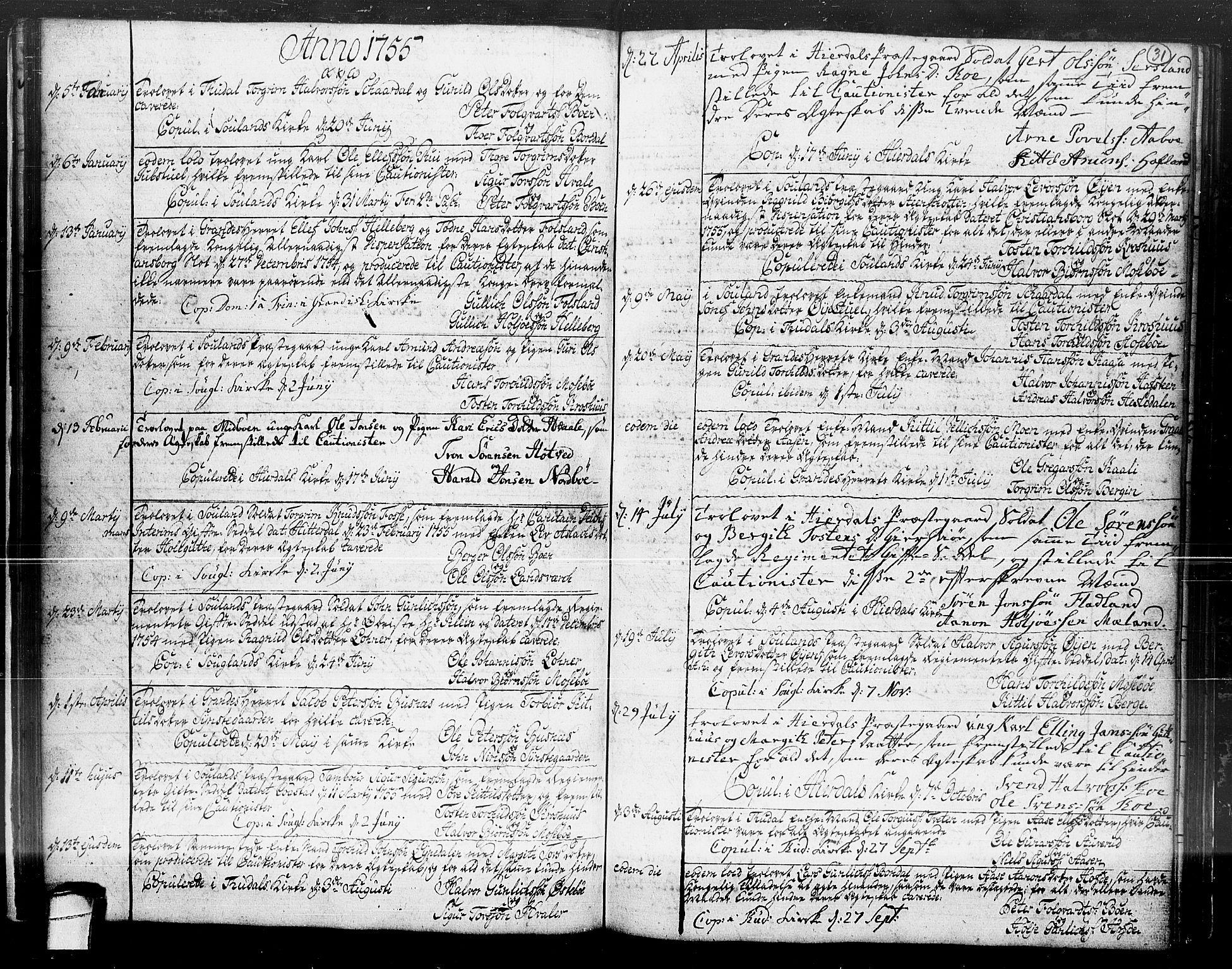 SAKO, Hjartdal kirkebøker, F/Fa/L0004: Ministerialbok nr. I 4, 1727-1795, s. 31