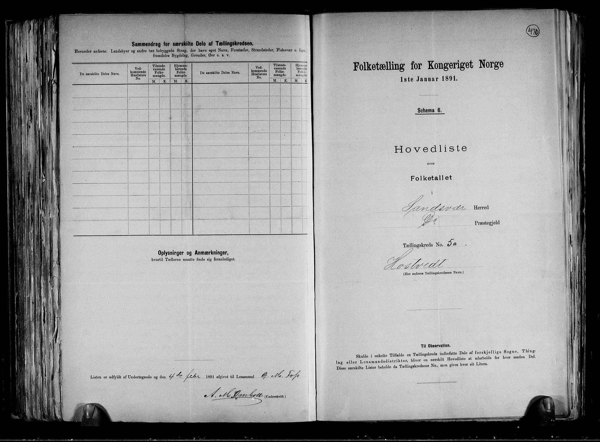 RA, Folketelling 1891 for 0629 Sandsvær herred, 1891, s. 13