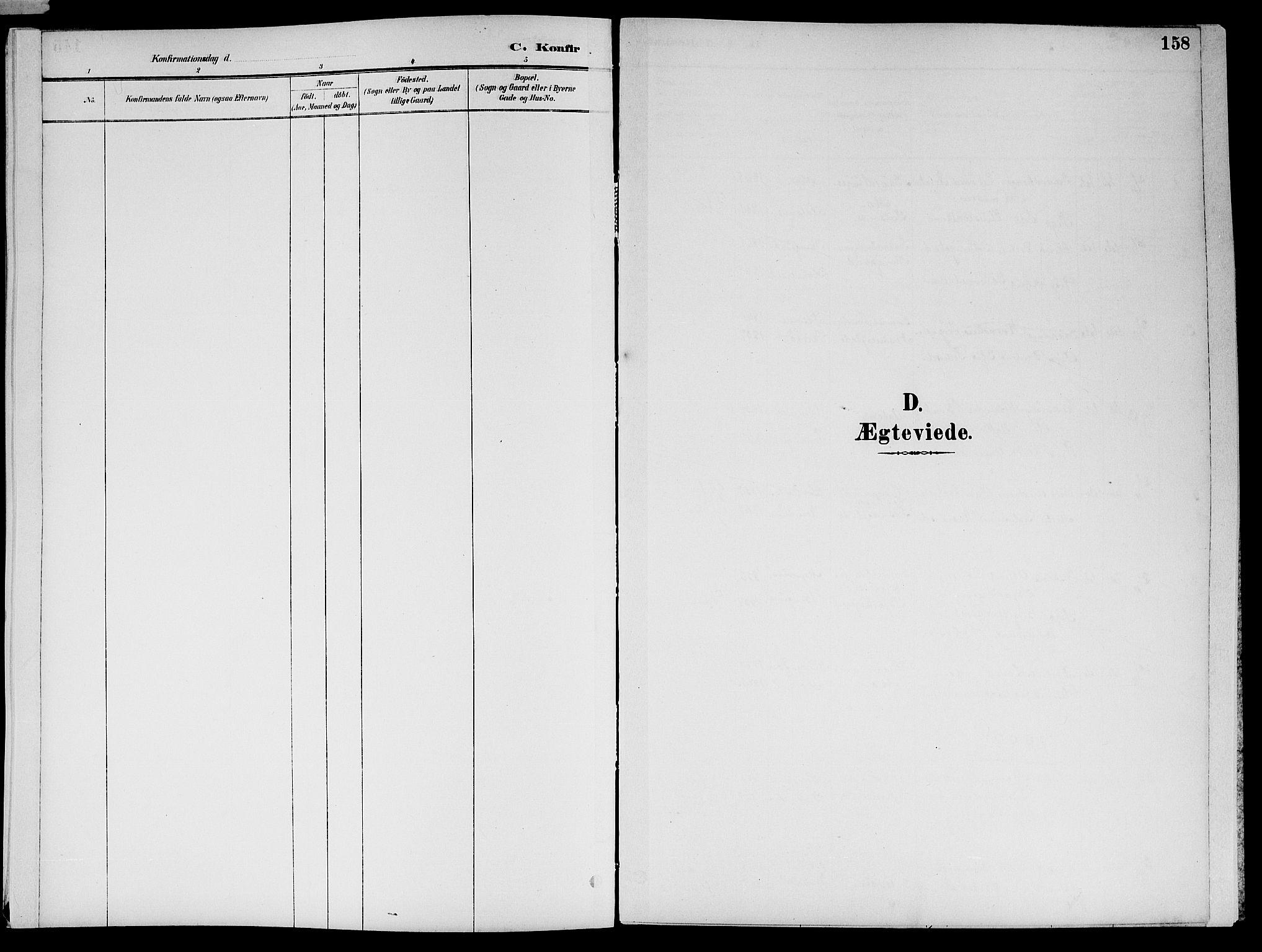 SAT, Ministerialprotokoller, klokkerbøker og fødselsregistre - Nord-Trøndelag, 773/L0617: Ministerialbok nr. 773A08, 1887-1910, s. 158