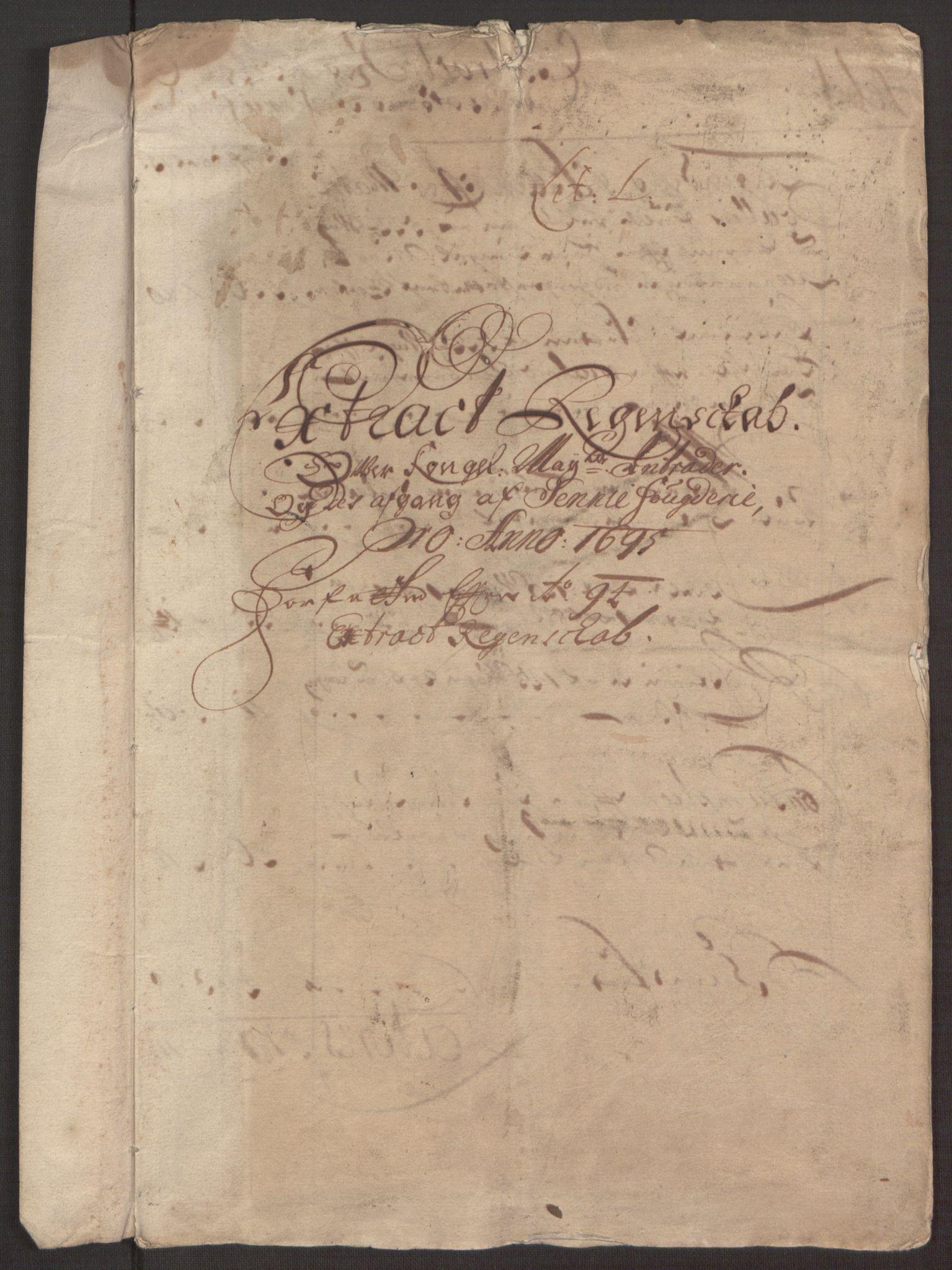 RA, Rentekammeret inntil 1814, Reviderte regnskaper, Fogderegnskap, R68/L4753: Fogderegnskap Senja og Troms, 1694-1696, s. 212