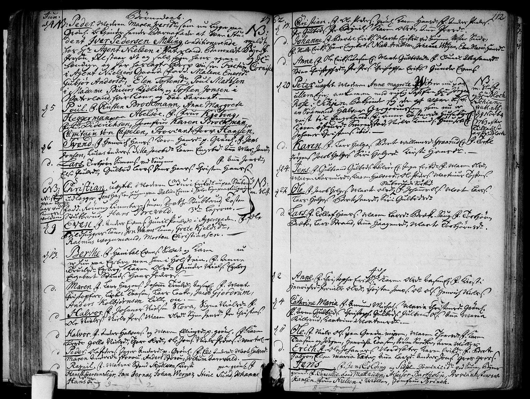 SAO, Aker prestekontor kirkebøker, F/L0008: Ministerialbok nr. 8, 1749-1765, s. 112