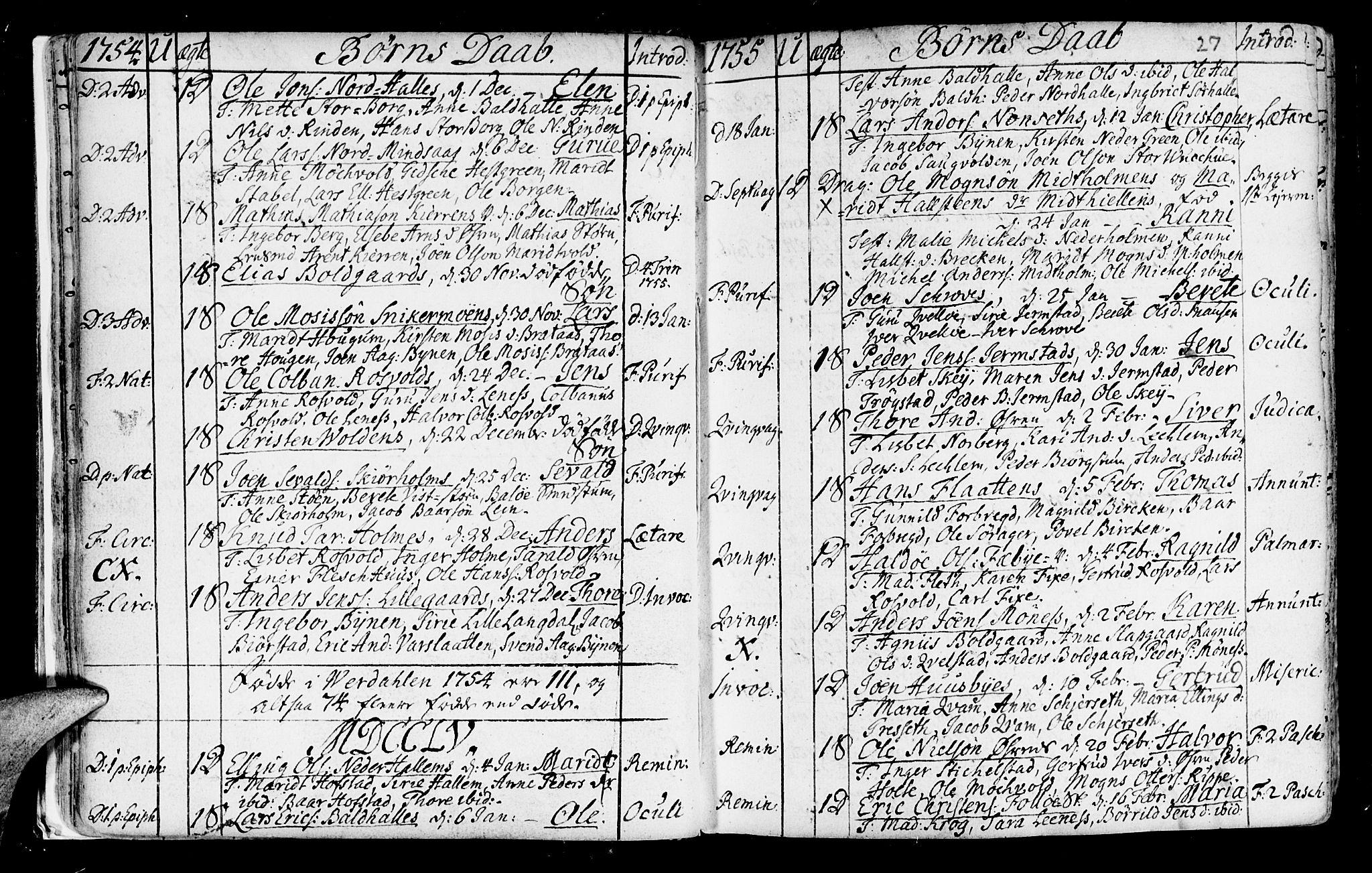 SAT, Ministerialprotokoller, klokkerbøker og fødselsregistre - Nord-Trøndelag, 723/L0231: Ministerialbok nr. 723A02, 1748-1780, s. 27