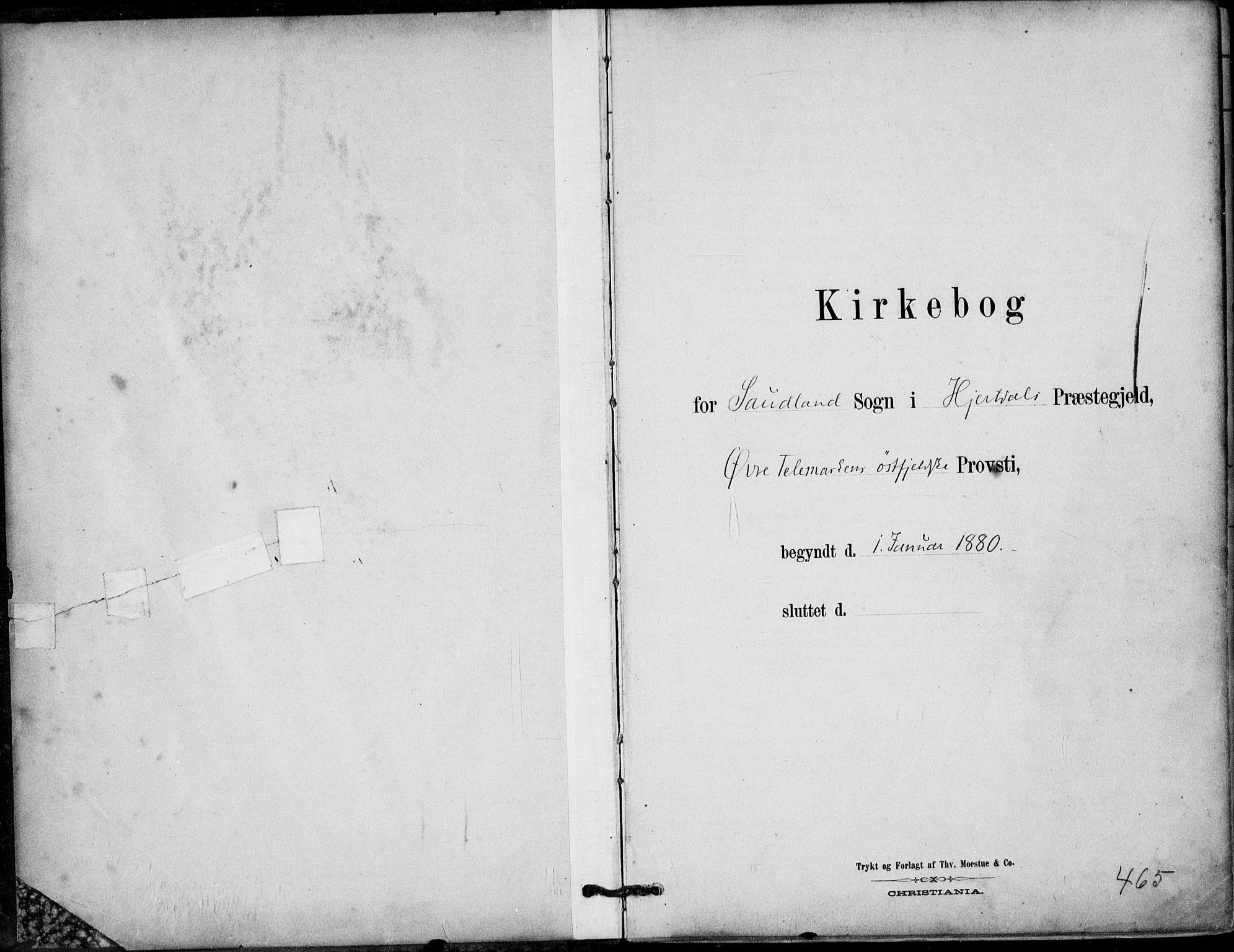 SAKO, Hjartdal kirkebøker, F/Fb/L0002: Ministerialbok nr. II 2, 1880-1932