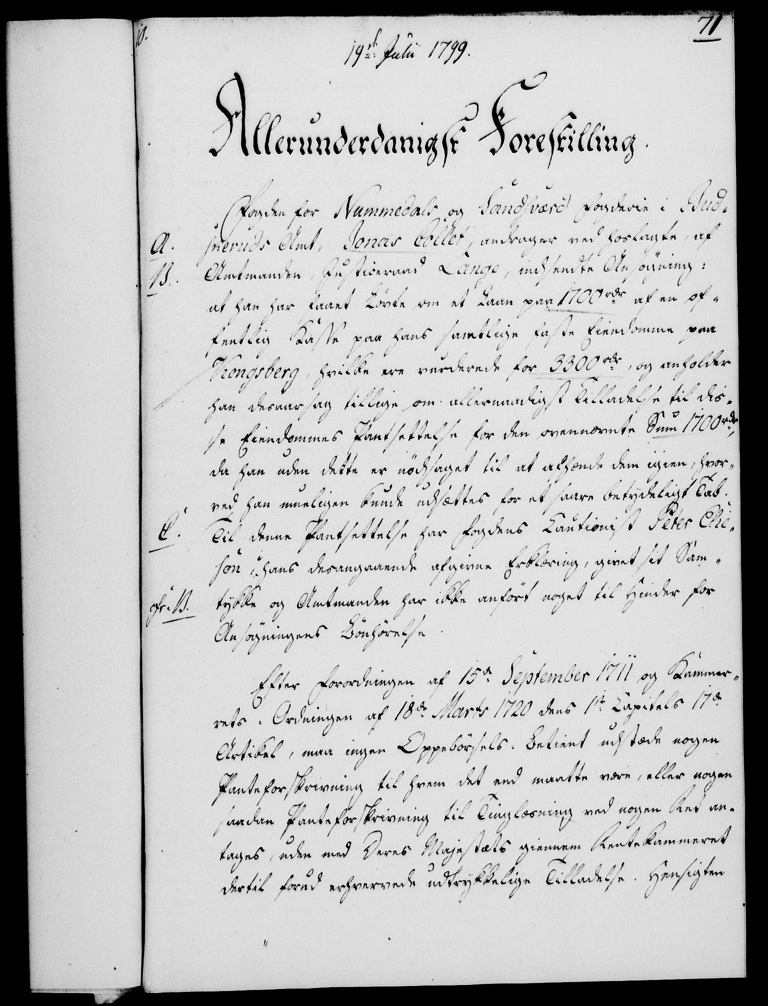 RA, Rentekammeret, Kammerkanselliet, G/Gf/Gfa/L0081: Norsk relasjons- og resolusjonsprotokoll (merket RK 52.81), 1799, s. 448