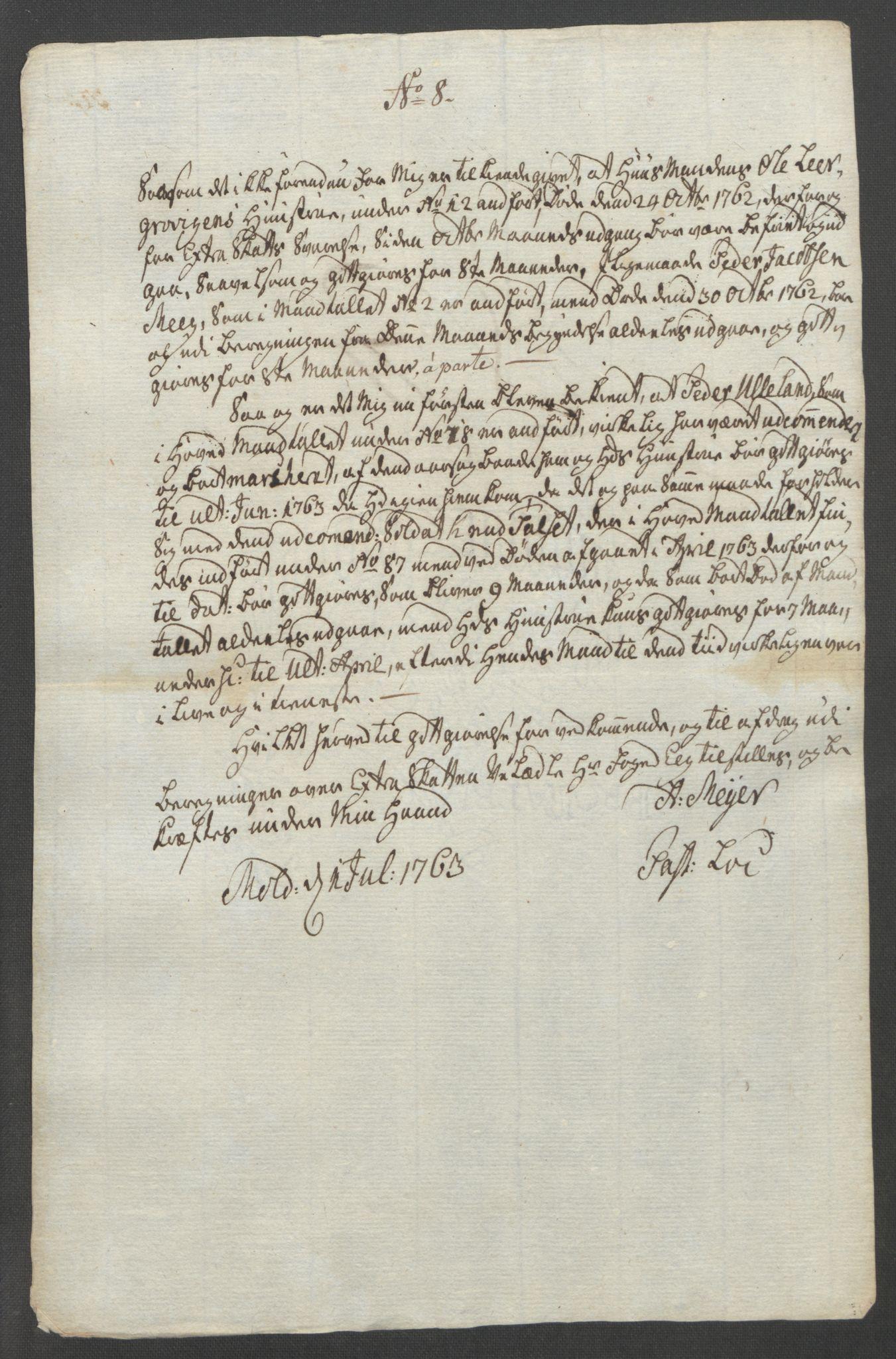 RA, Rentekammeret inntil 1814, Reviderte regnskaper, Fogderegnskap, R55/L3730: Ekstraskatten Romsdal, 1762-1763, s. 521